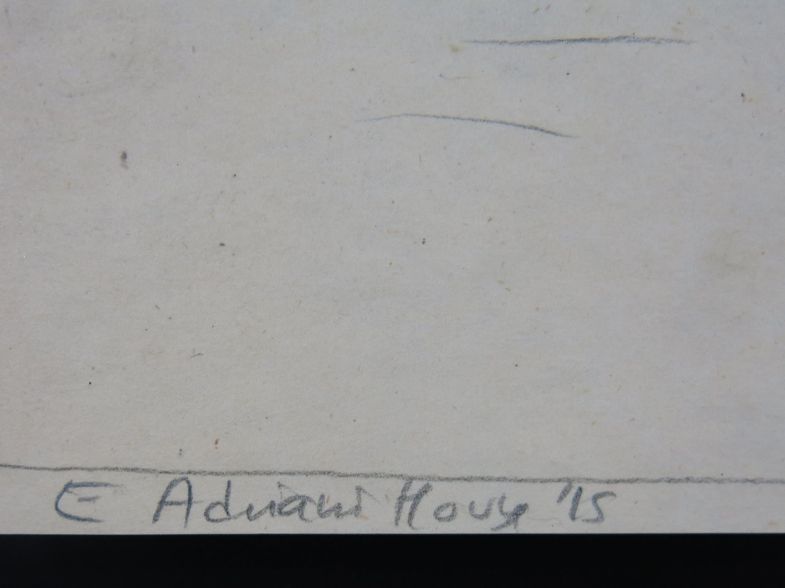 Elisabeth Adriani-Hovy: Potloodtekening + 2x Aquarel, Landschap kopen? Bied vanaf 1!