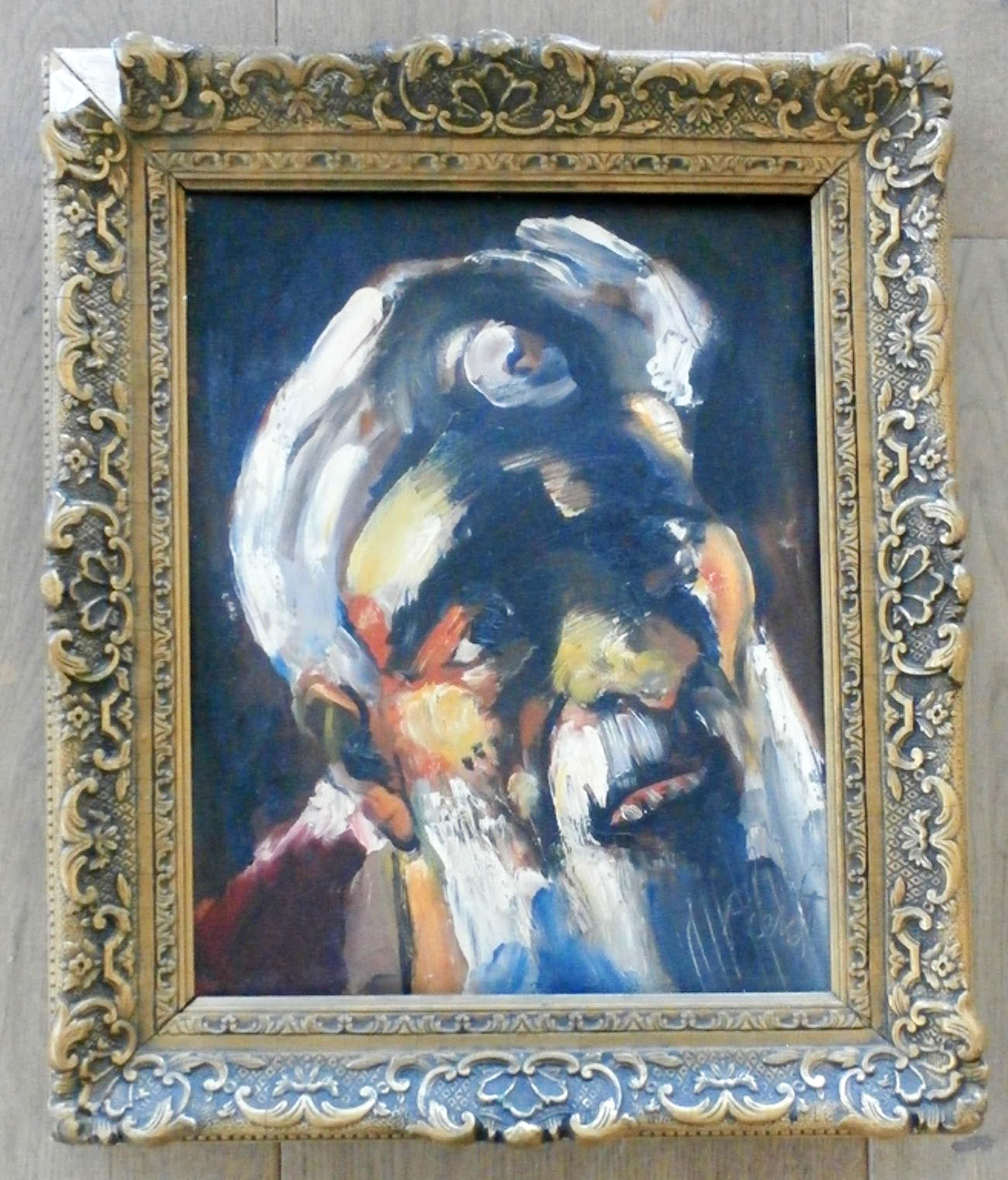 Piet van Stuivenberg - olieverf op paneel: portret van een man kopen? Bied vanaf 150!