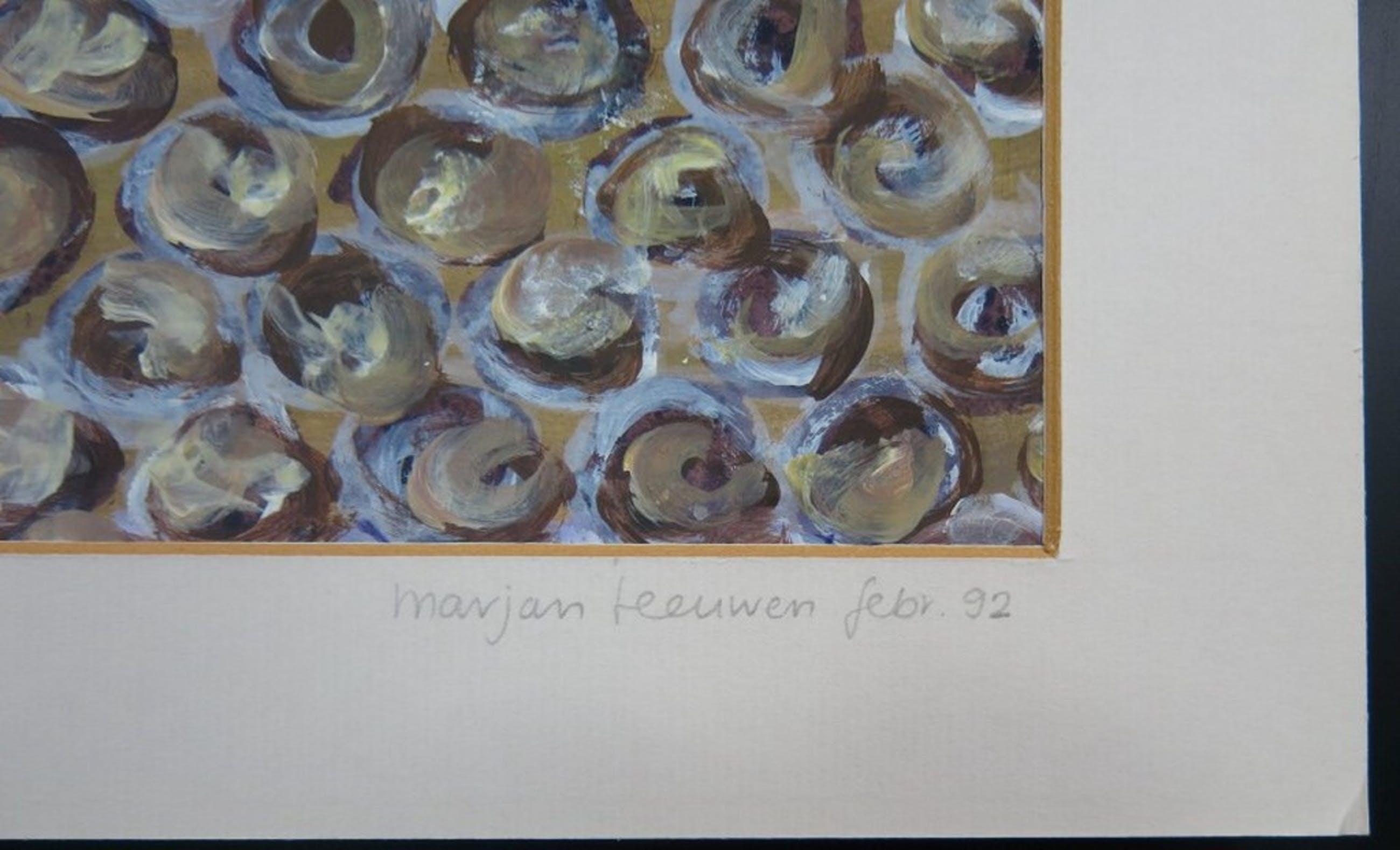 Marjan Teeuwen: Olieverf op papier, Zonder titel kopen? Bied vanaf 1!