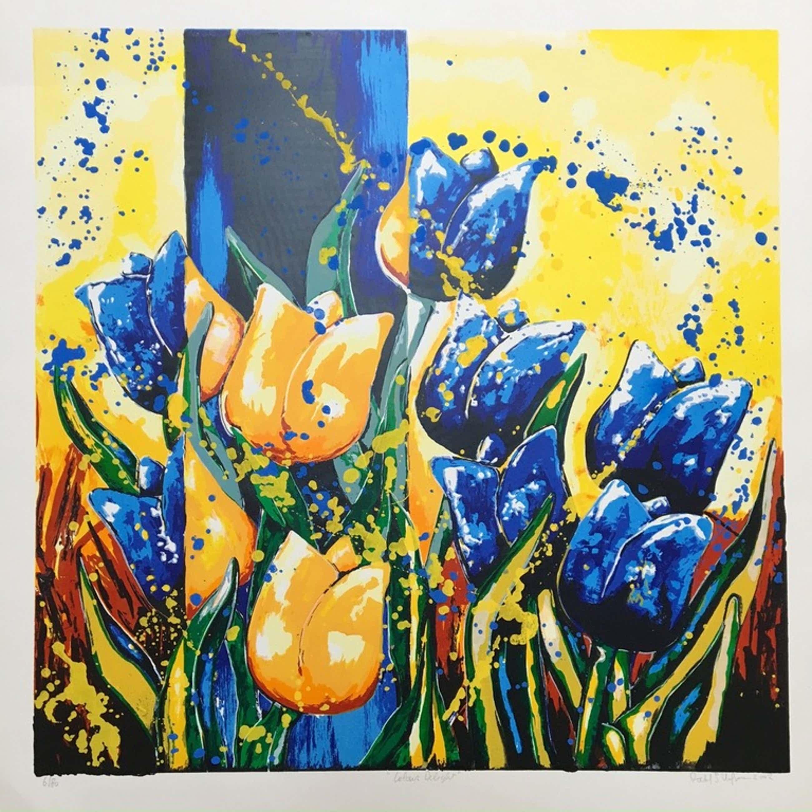 Roel Hofman zeefdruk 'Colour Delight' kopen? Bied vanaf 50!