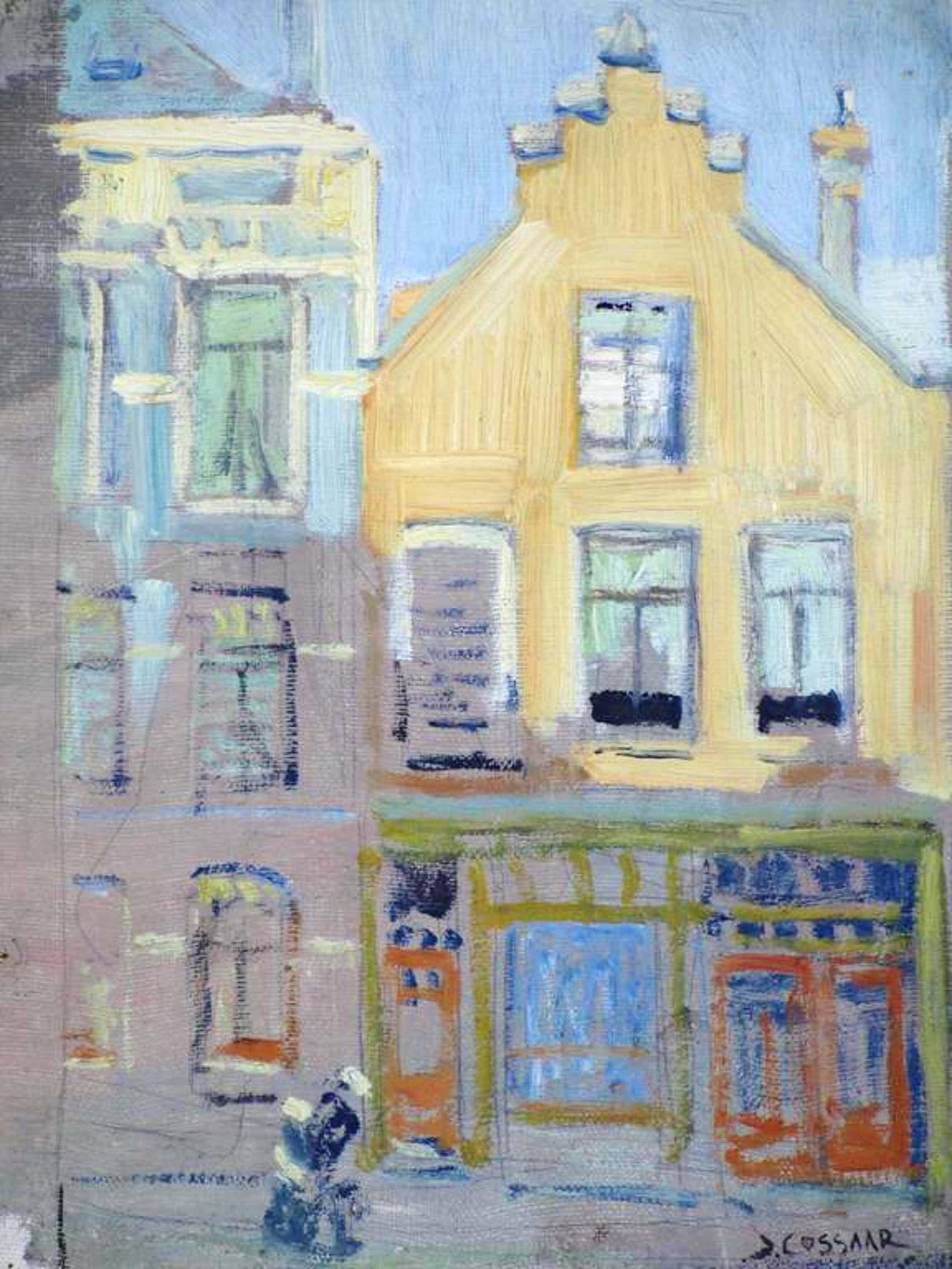 Jan Cossaar, Straatje Den Haag 1919, Olieverf/doek kopen? Bied vanaf 304!