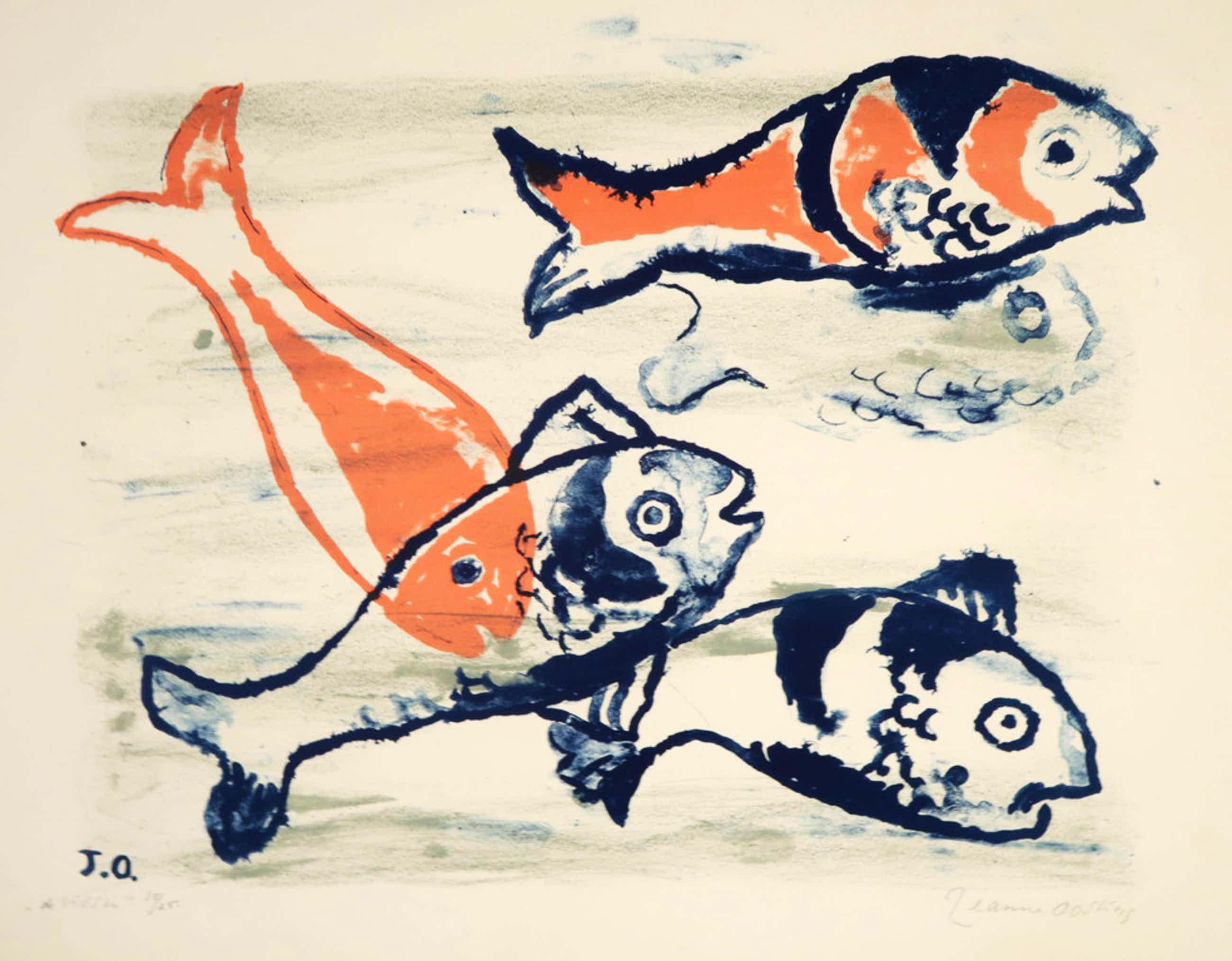 Jeanne Oosting: Litho, De Vissen kopen? Bied vanaf 45!