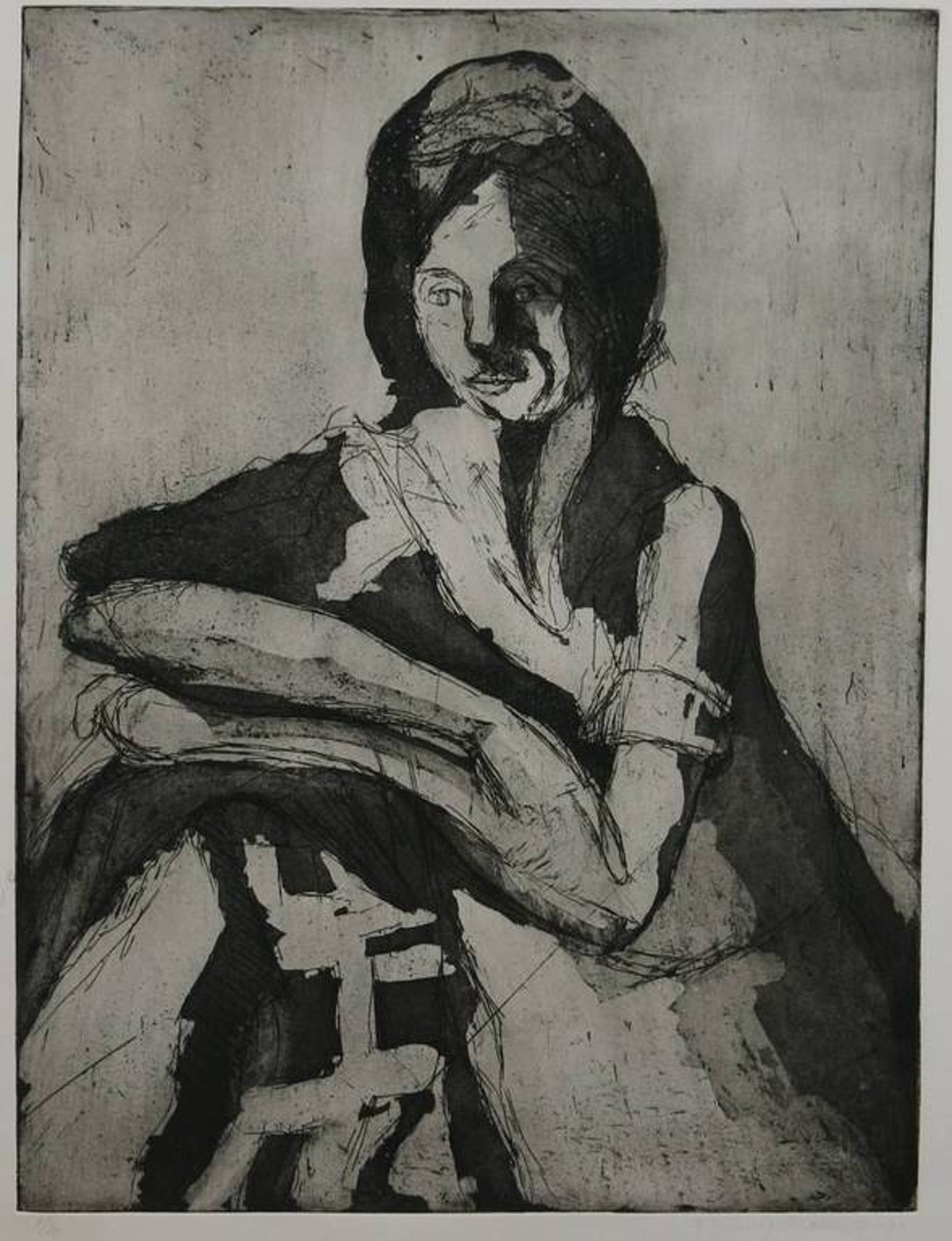 Gerda Lensing Brouwer: Ets, portret van een vrouw kopen? Bied vanaf 1!