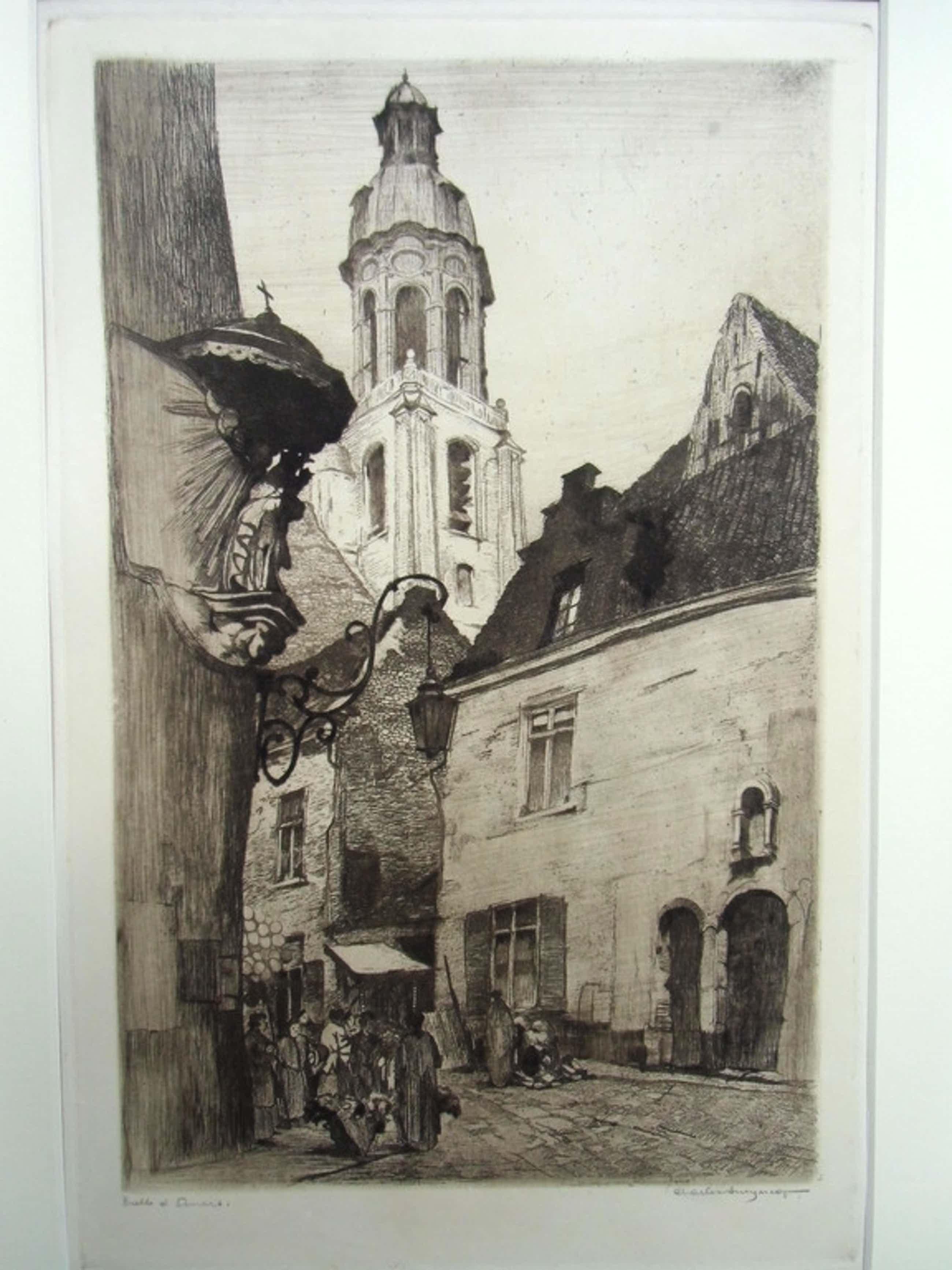 STADSBEELD ANTWERPEN  //  ETS VAN CHARLES SWYNCOP( 1895 - 1970) kopen? Bied vanaf 46!