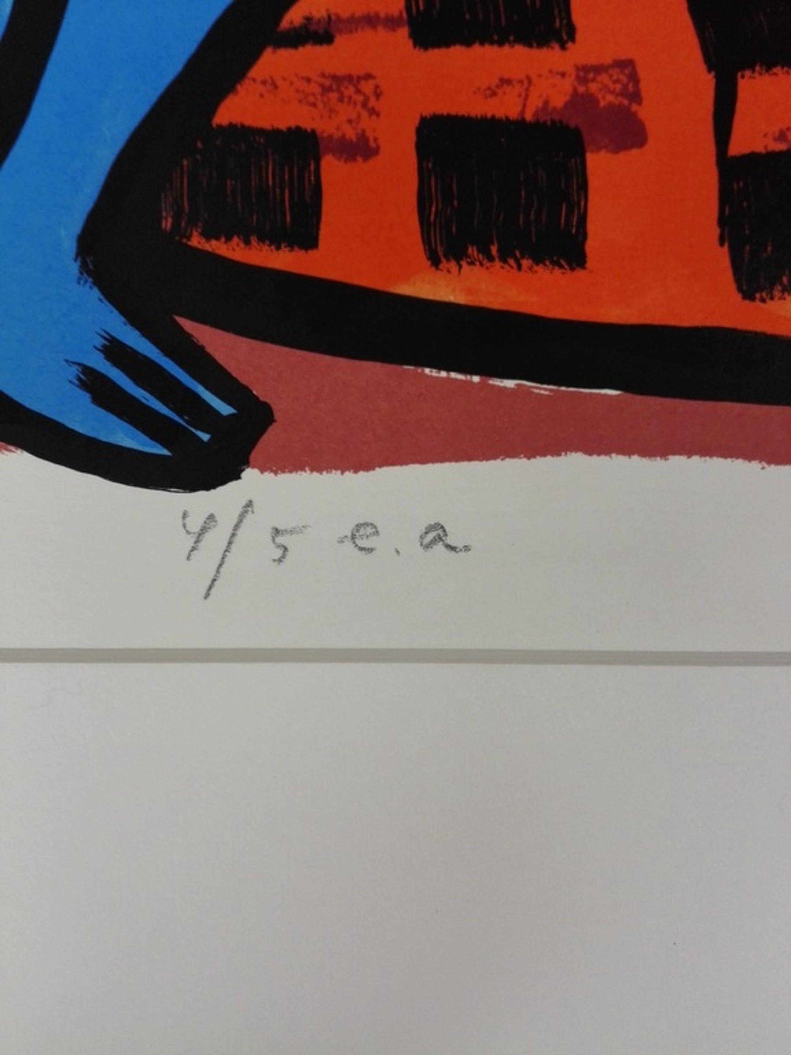 Clemens Briels, zeefdruk op papier, Titel: Antipodes kopen? Bied vanaf 75!