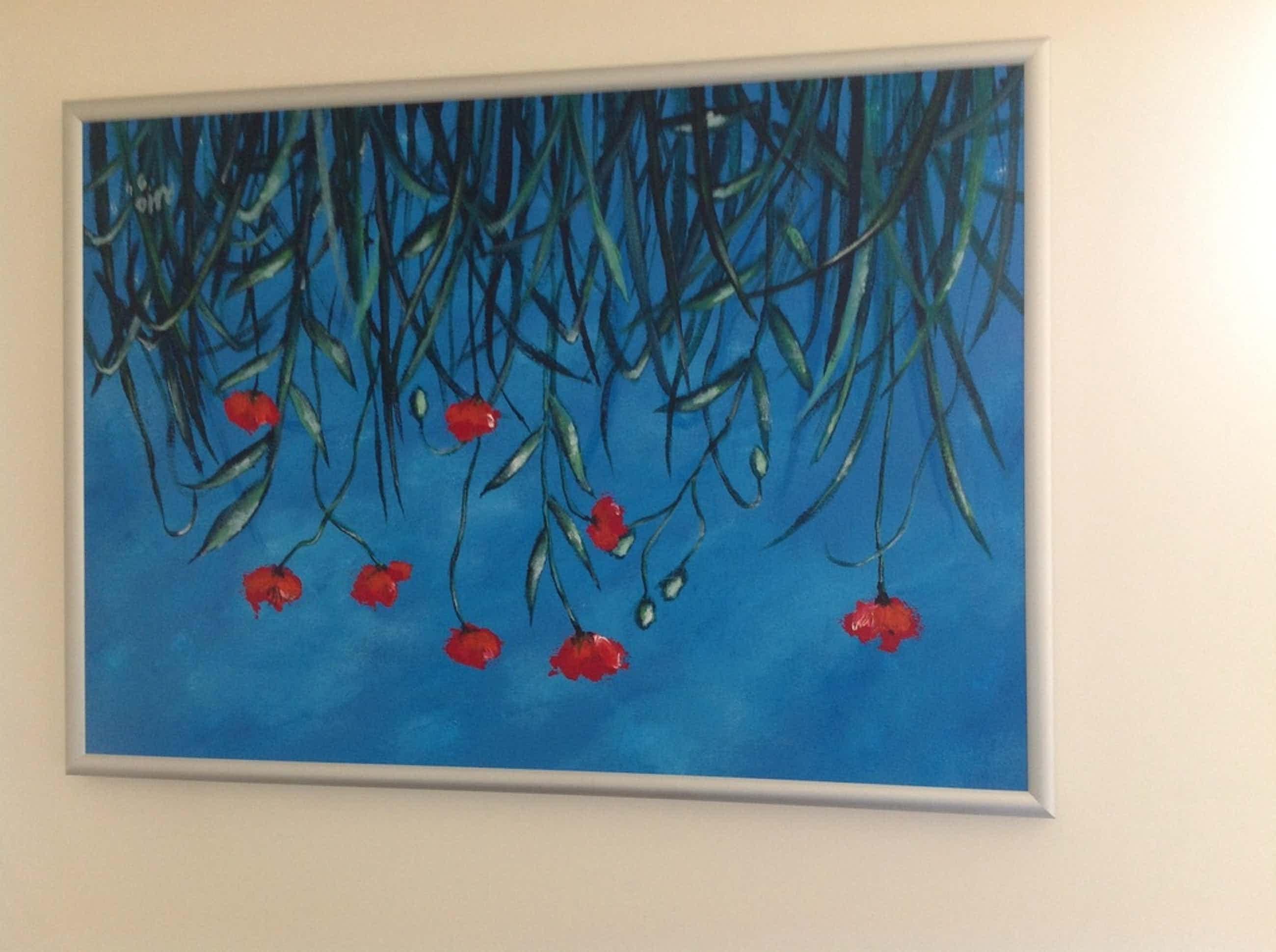 Roel Hofman, olieverfschilderij, Japans Klaprozenveld kopen? Bied vanaf 60!