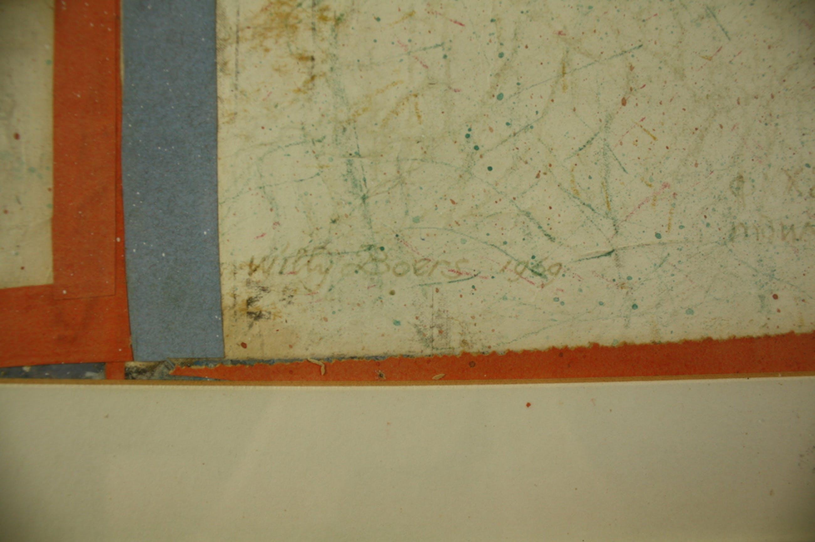 Willy Boers, collage, 'Herinnering aan gisteren', 1969 kopen? Bied vanaf 1349!