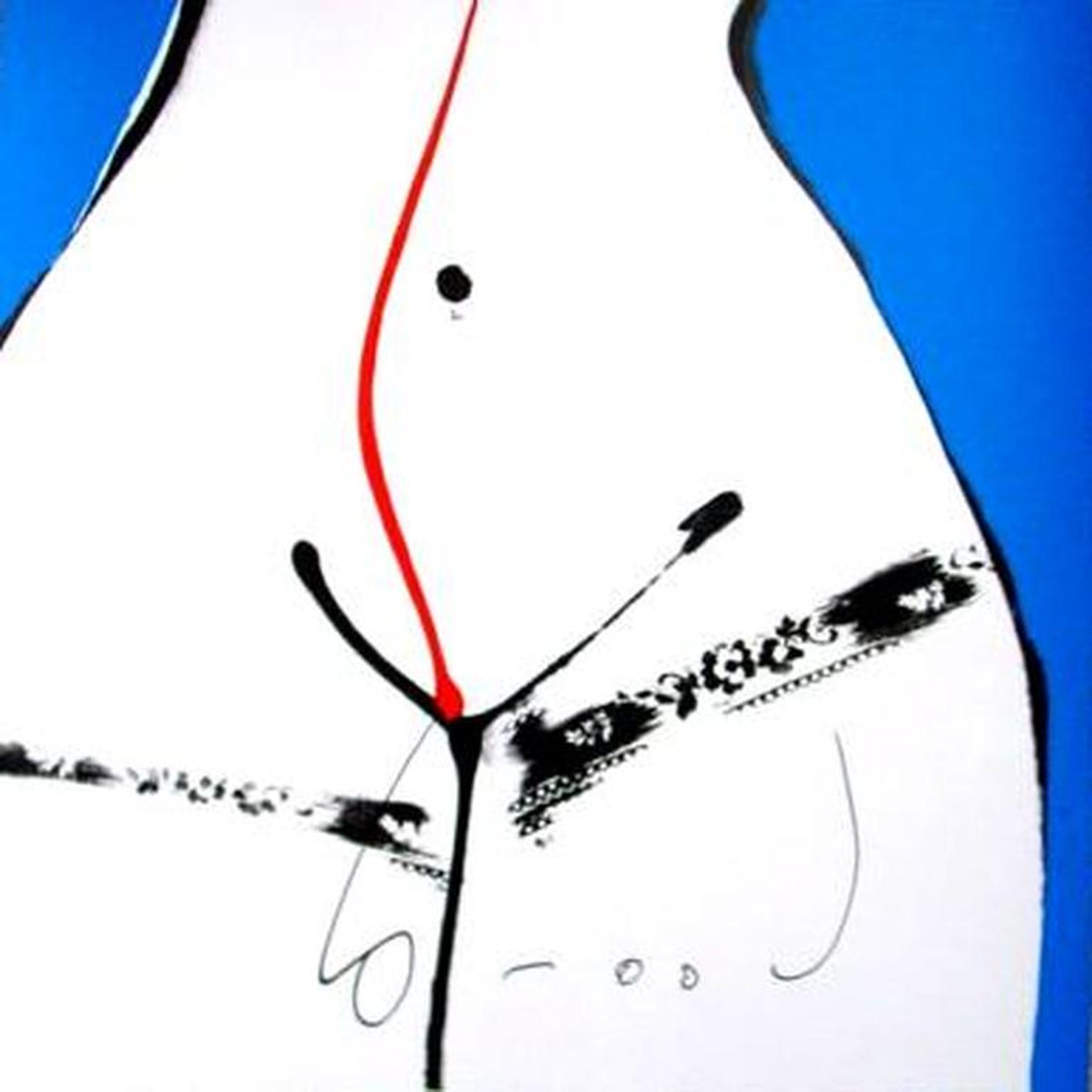 HERMAN BROOD, grote gelimiteerde en handgesigneerde zeefdruk 'Hips Blauw' kopen? Bied vanaf 1!