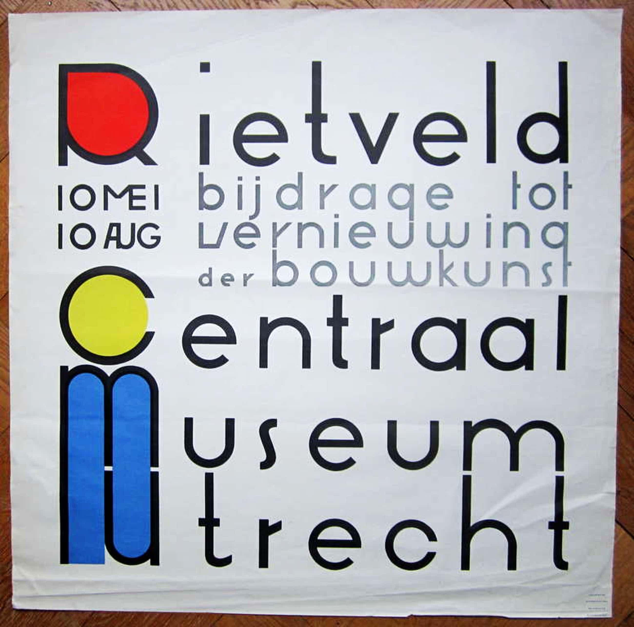 Gerrit Rietveld, affiche uit 1958 kopen? Bied vanaf 100!
