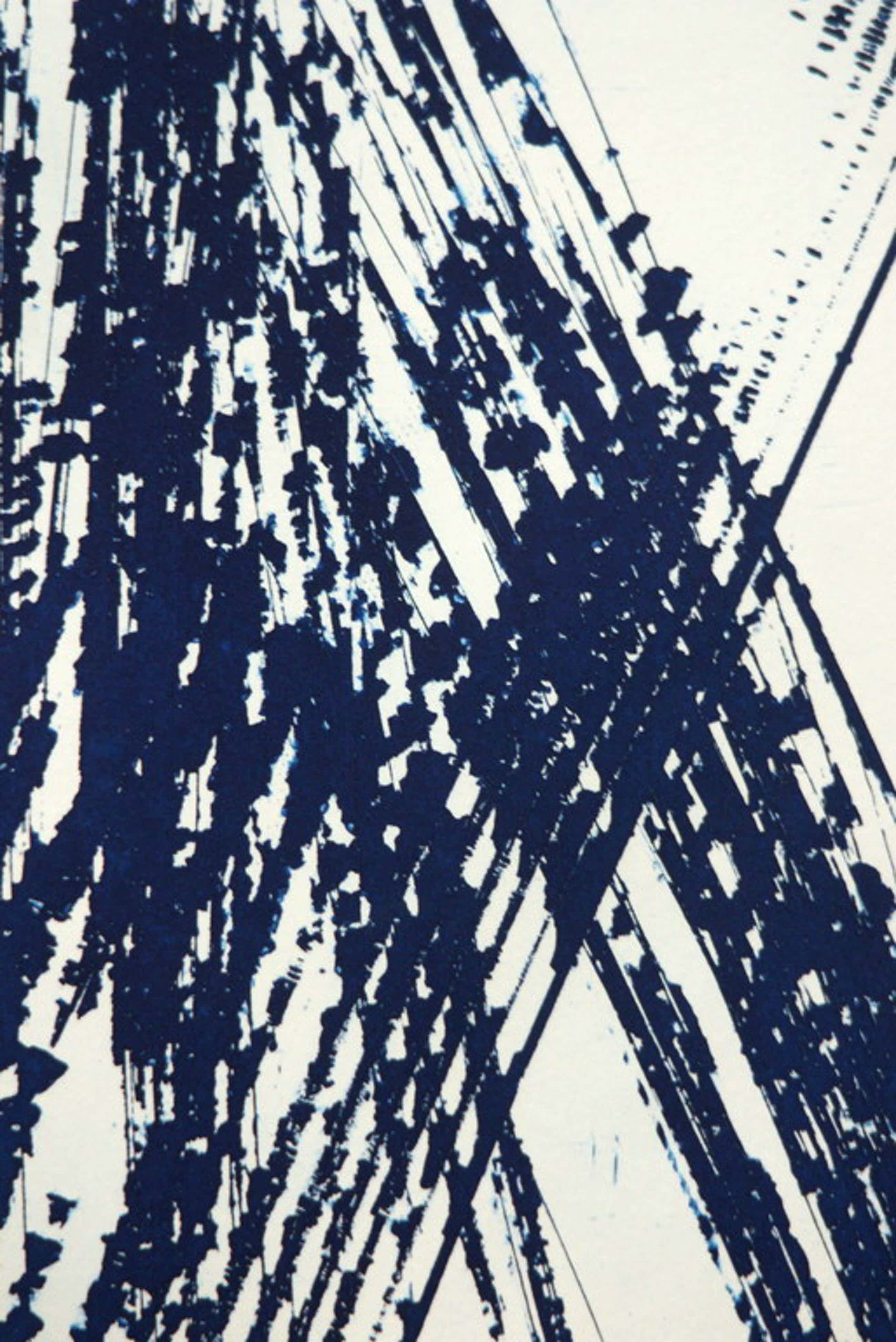 Hans Hartung - hand signed etching in blue and white - 1989 - oplage: 120 ex. kopen? Bied vanaf 225!