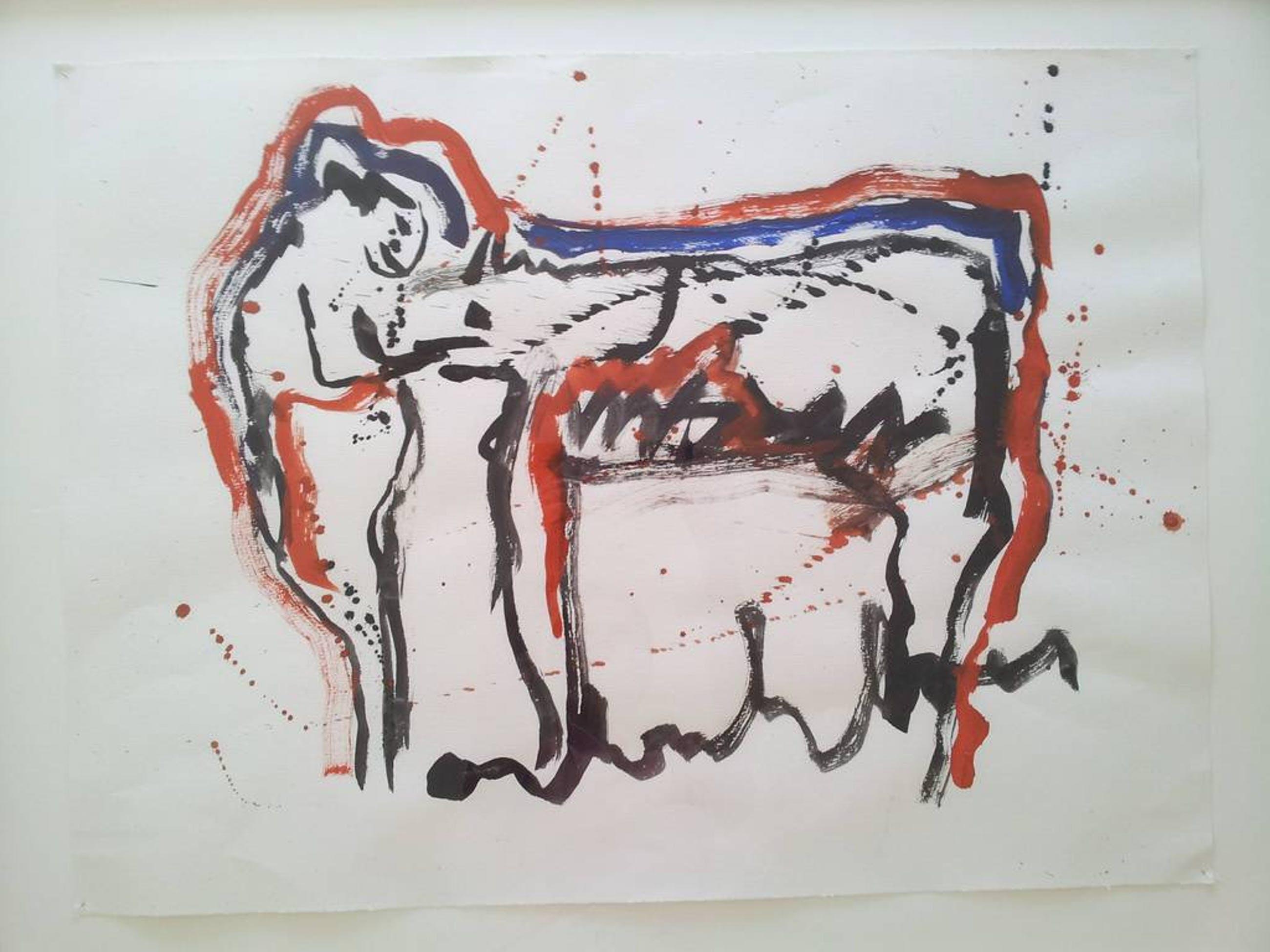 Anton Heyboer: Beest, origineel werk op papier, gesigneerd kopen? Bied vanaf 150!