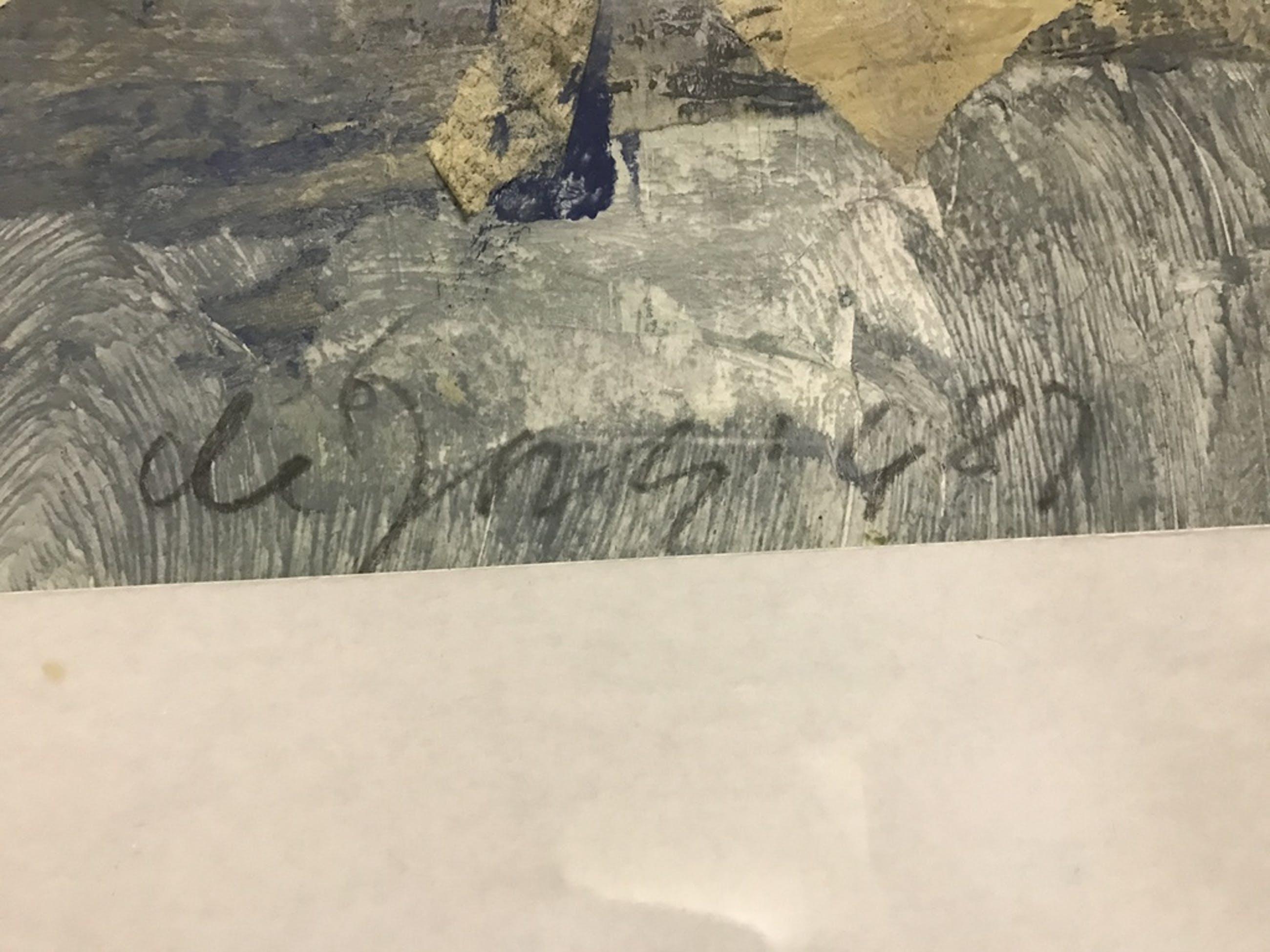 Leo de Jong gemengde technieken op papier, gesigneerd. 1987 kopen? Bied vanaf 1!