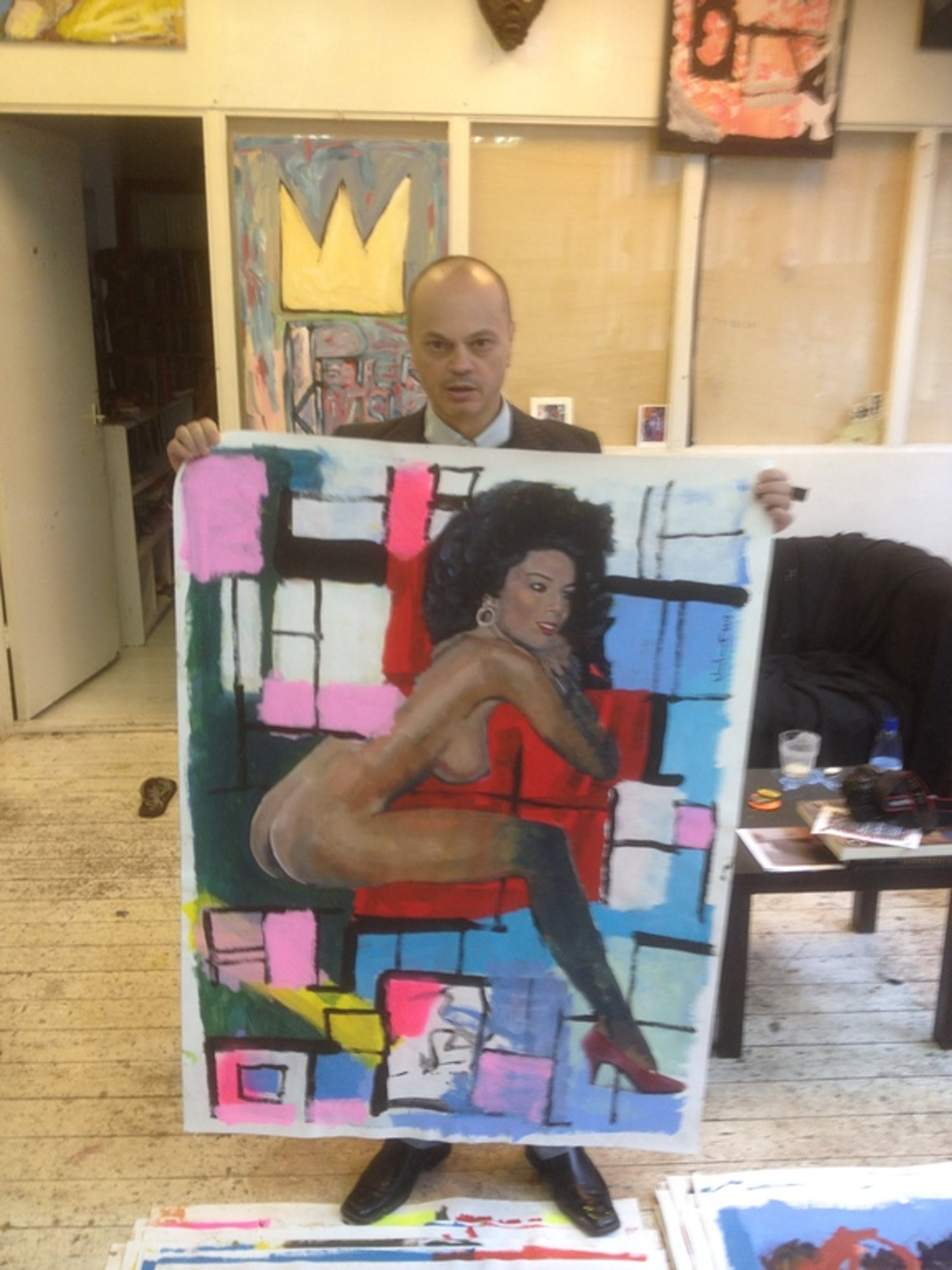 Peter Klashorst - Acryl- en olieverf op doek, zeer groot werk kopen? Bied vanaf 320!