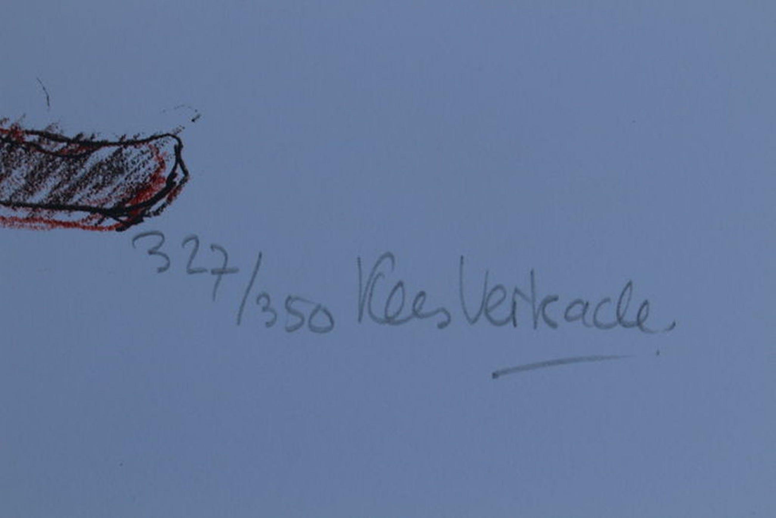 Kees Verkade  (1941) - handgesigneerde kleurenlitho met potlood -  oplage 350 kopen? Bied vanaf 50!