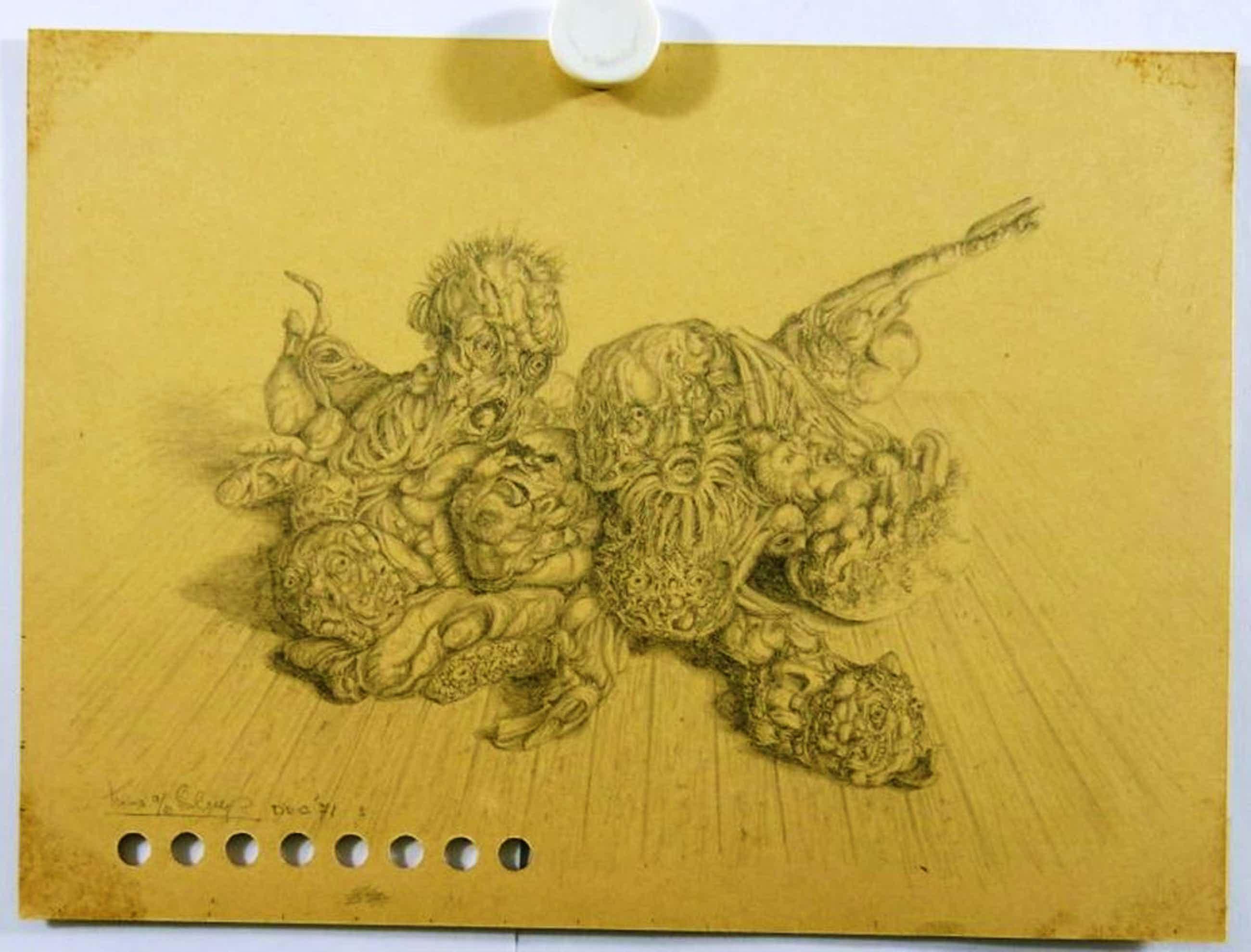 Koos van der Sluys, twee tekeningen kopen? Bied vanaf 35!
