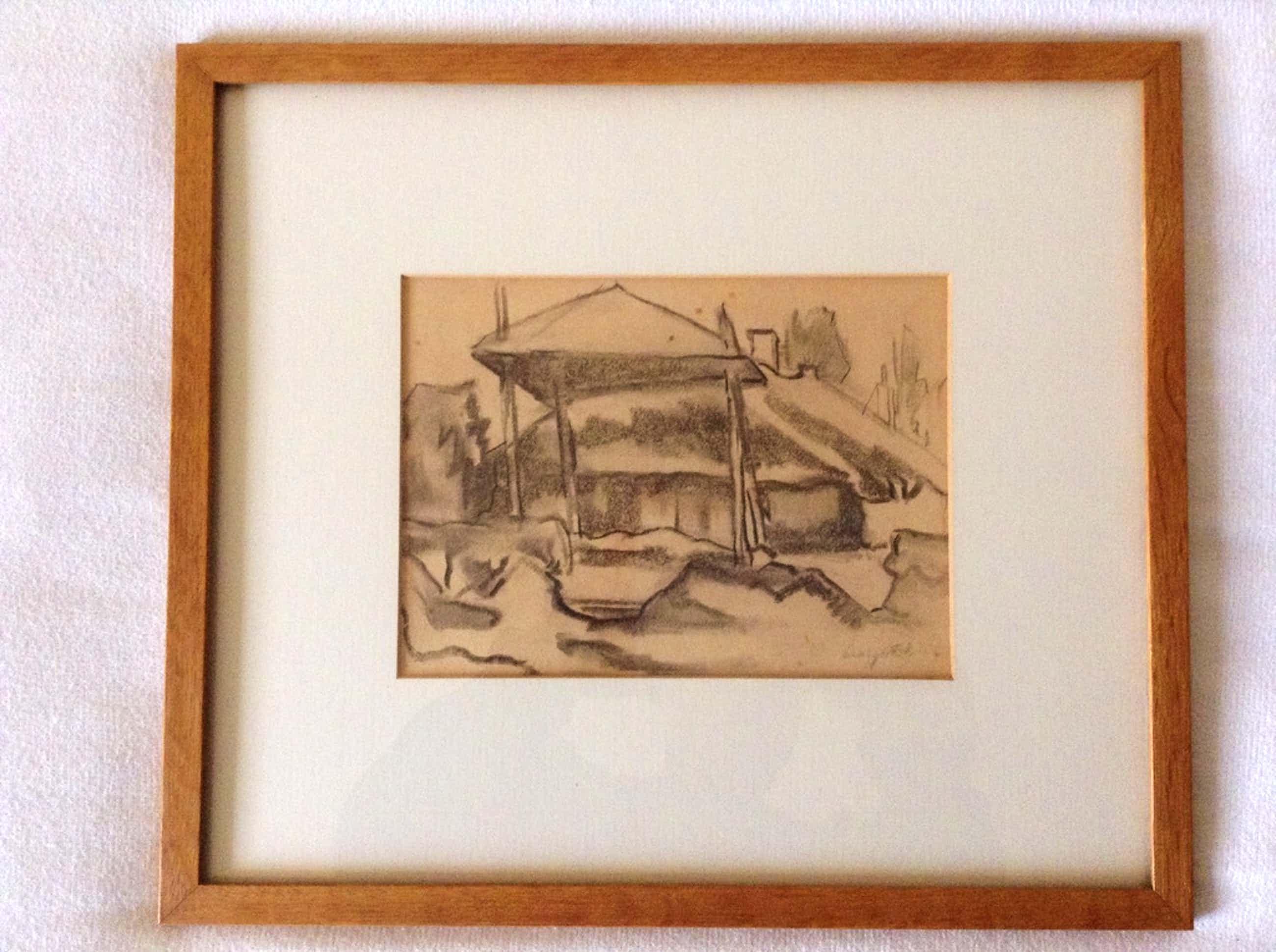 Boerderij Bergense school. Leo Gestel 1881-1941. Houtskool op papier 21x15 gesig kopen? Bied vanaf 100!