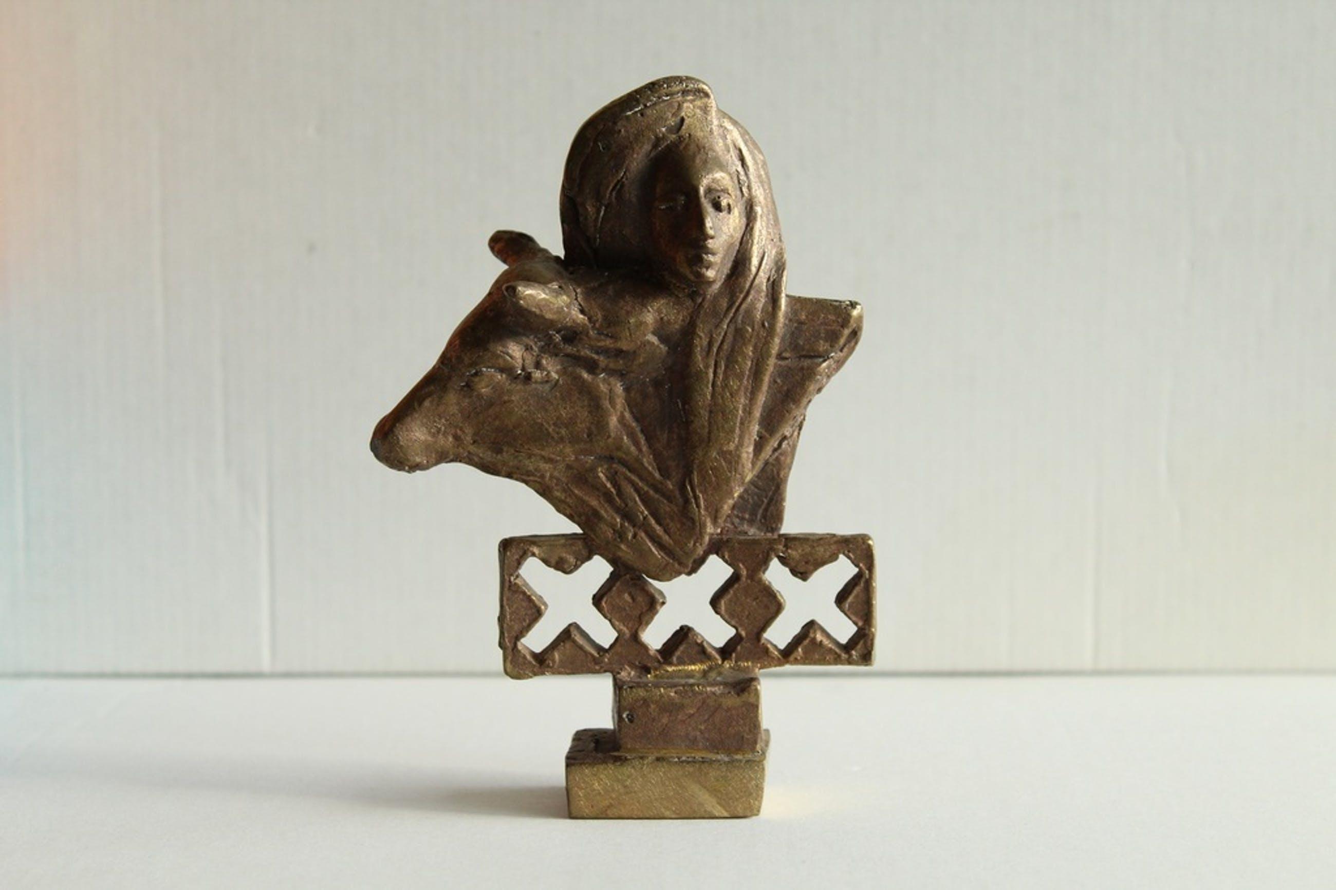 Eric Claus: Bronzen beeld, Europa en de stier kopen? Bied vanaf 295!