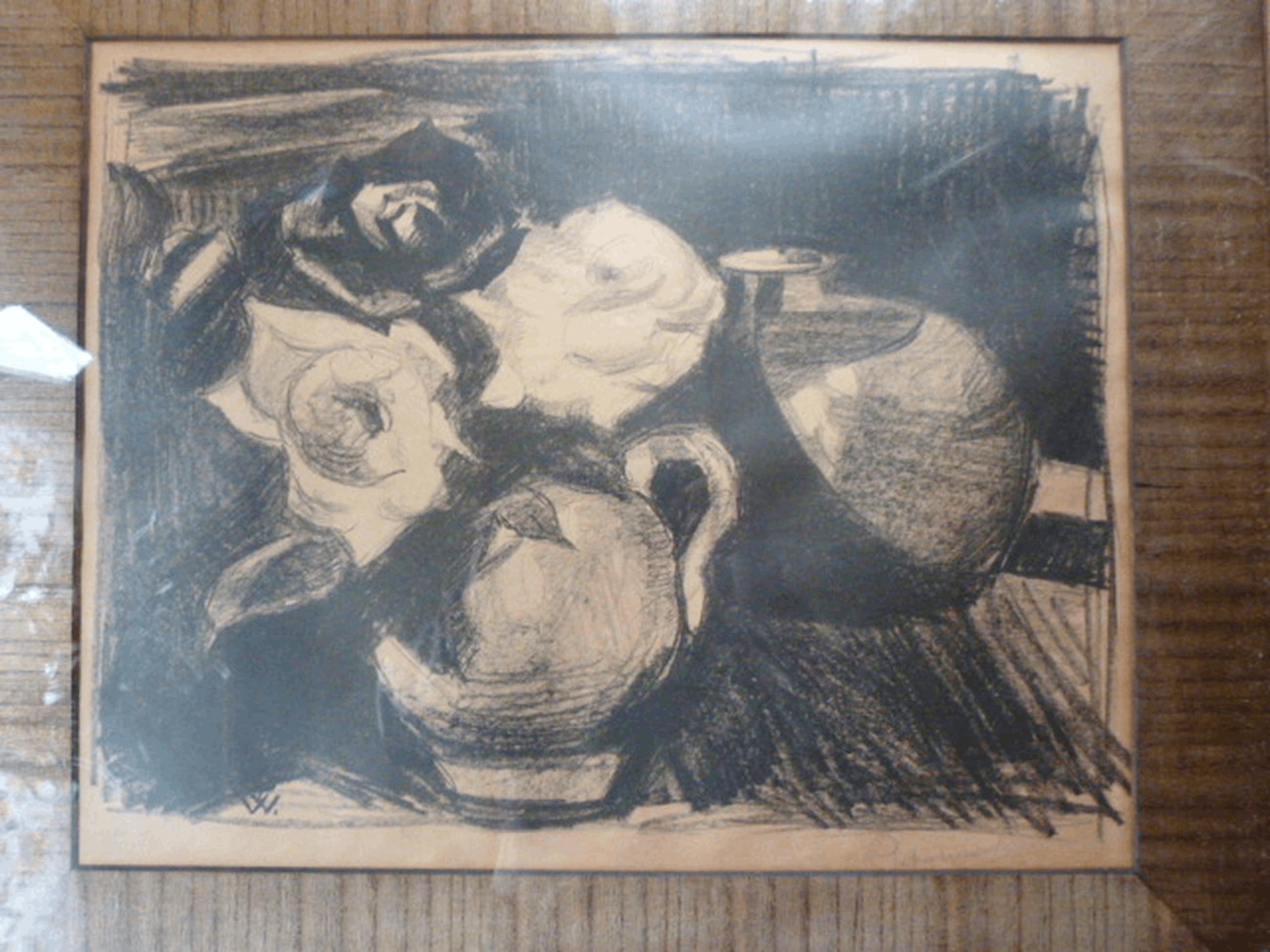 Piet van Wijngaerdt  ( 1873 - 1964 ). -  litho - stilleven. kopen? Bied vanaf 123!