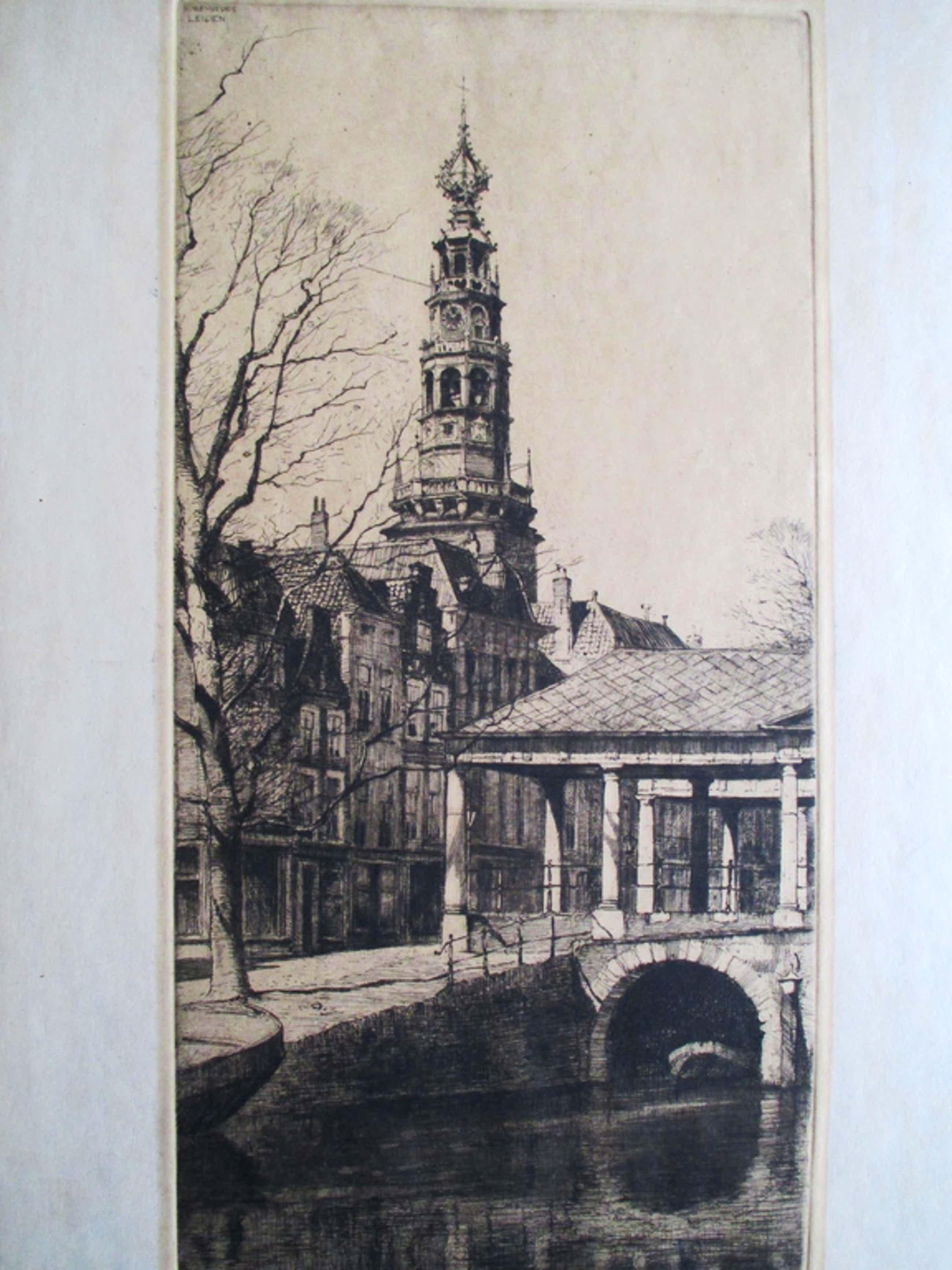 H. Roodenburg, ets Korenbeurs Leiden, 1929 kopen? Bied vanaf 35!