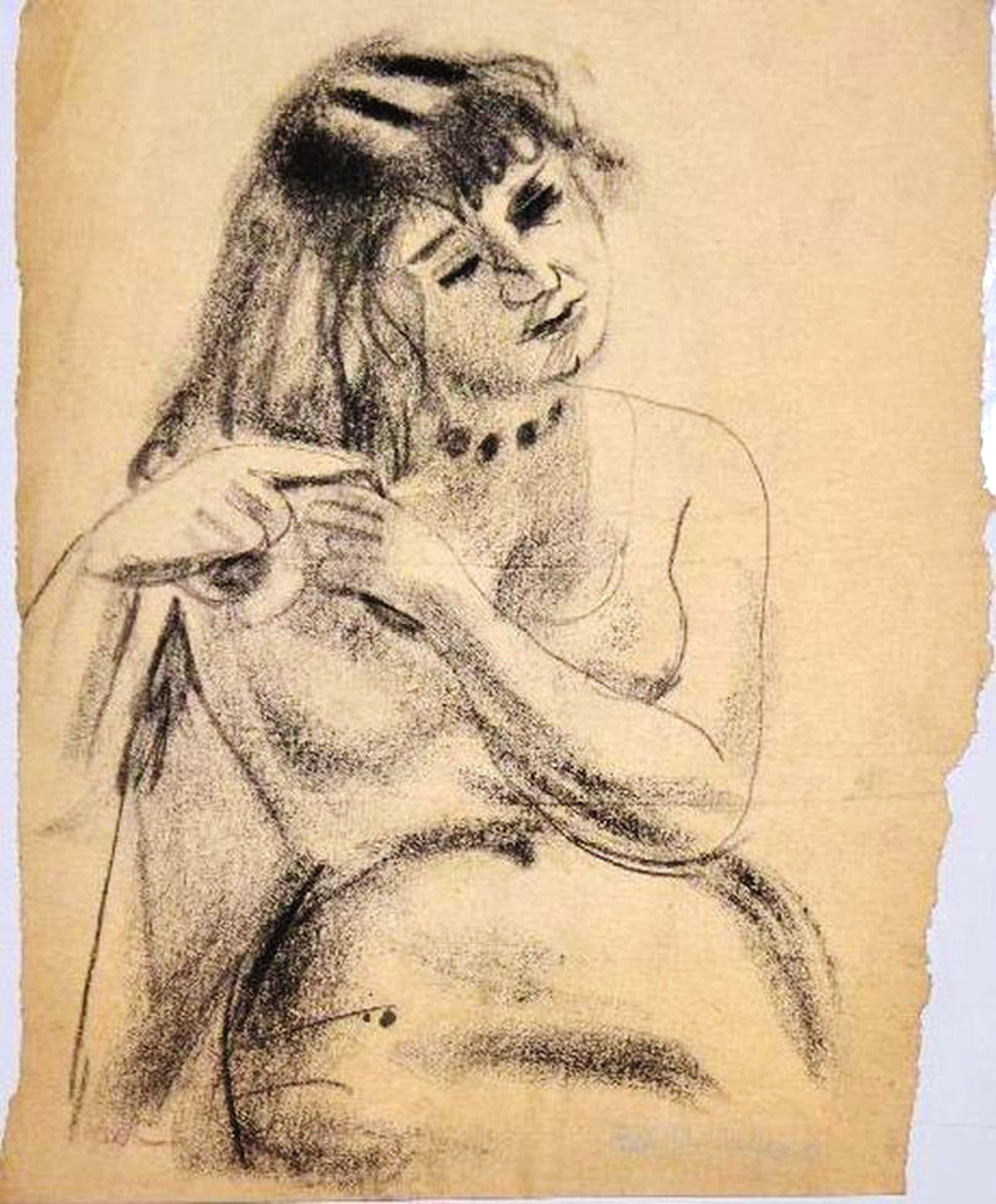 Ed Dukkers: 2 Houtskool tekeningen.  kopen? Bied vanaf 91!