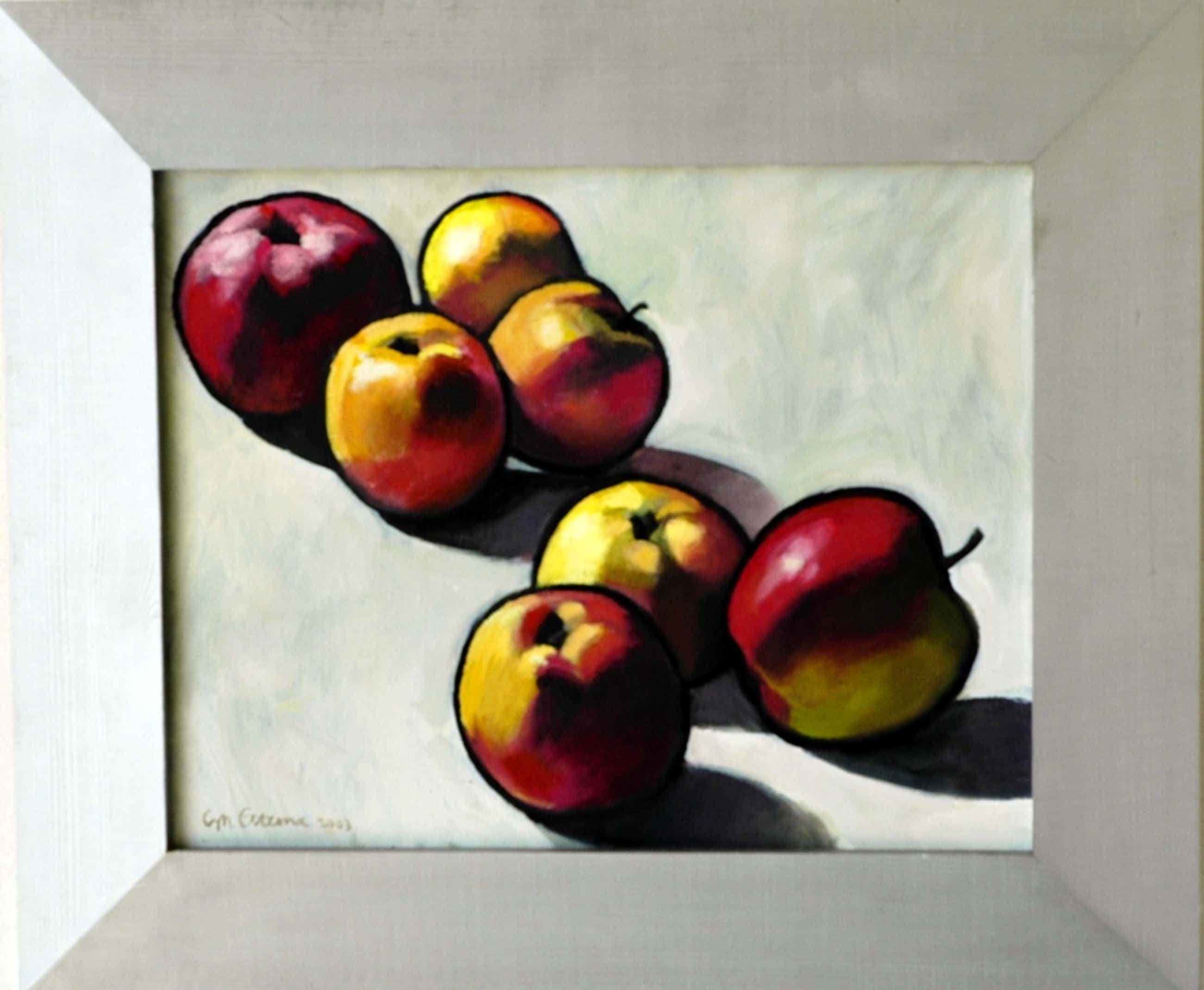 Gerard Ettema, olieverf, Appels, 72x92 cm, incl lijst kopen? Bied vanaf 85!