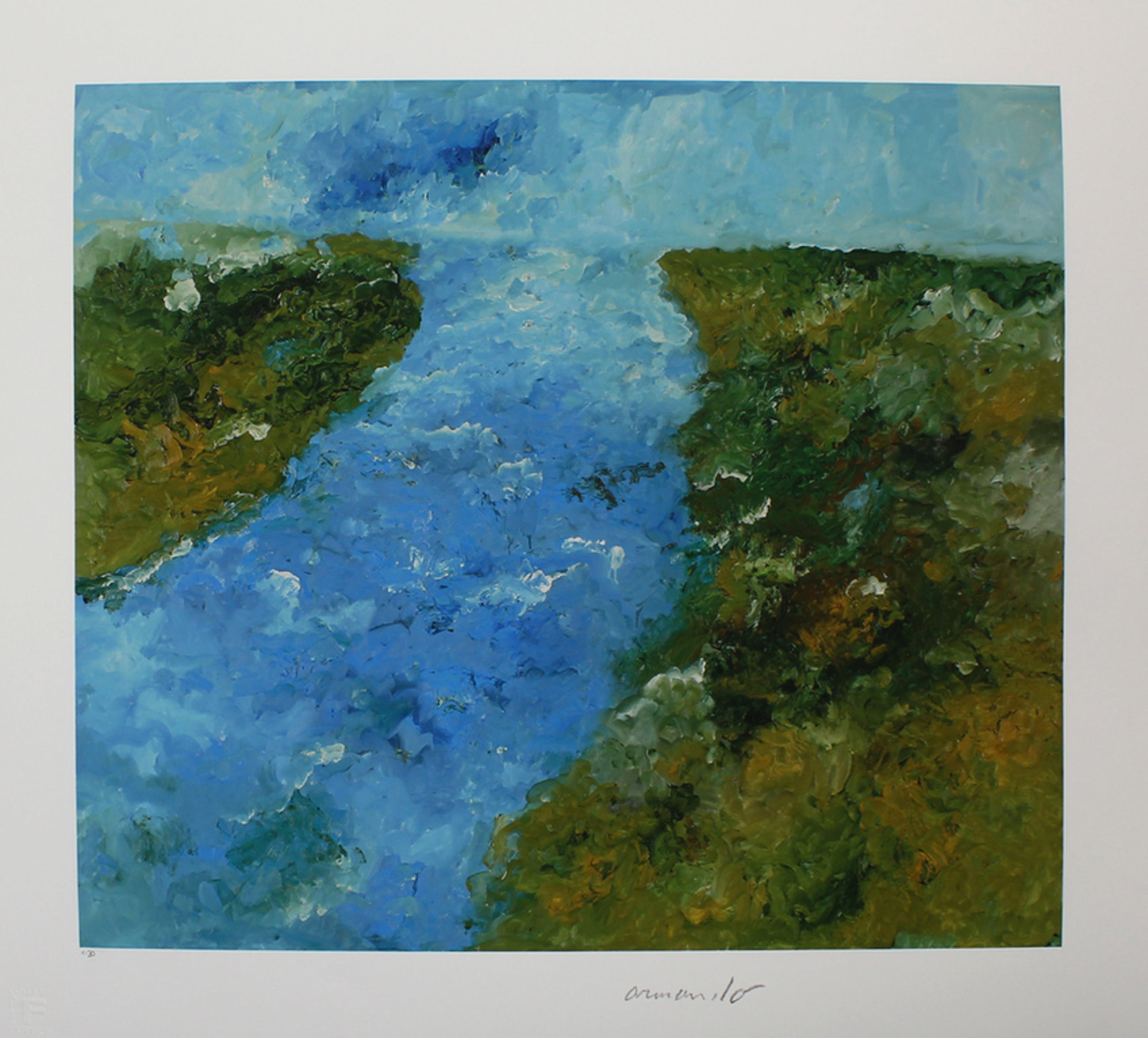 Armando -Der Fluss- 2016, Giclee, handgesigneerd, Oplage slechts 30 stuks. kopen? Bied vanaf 159!