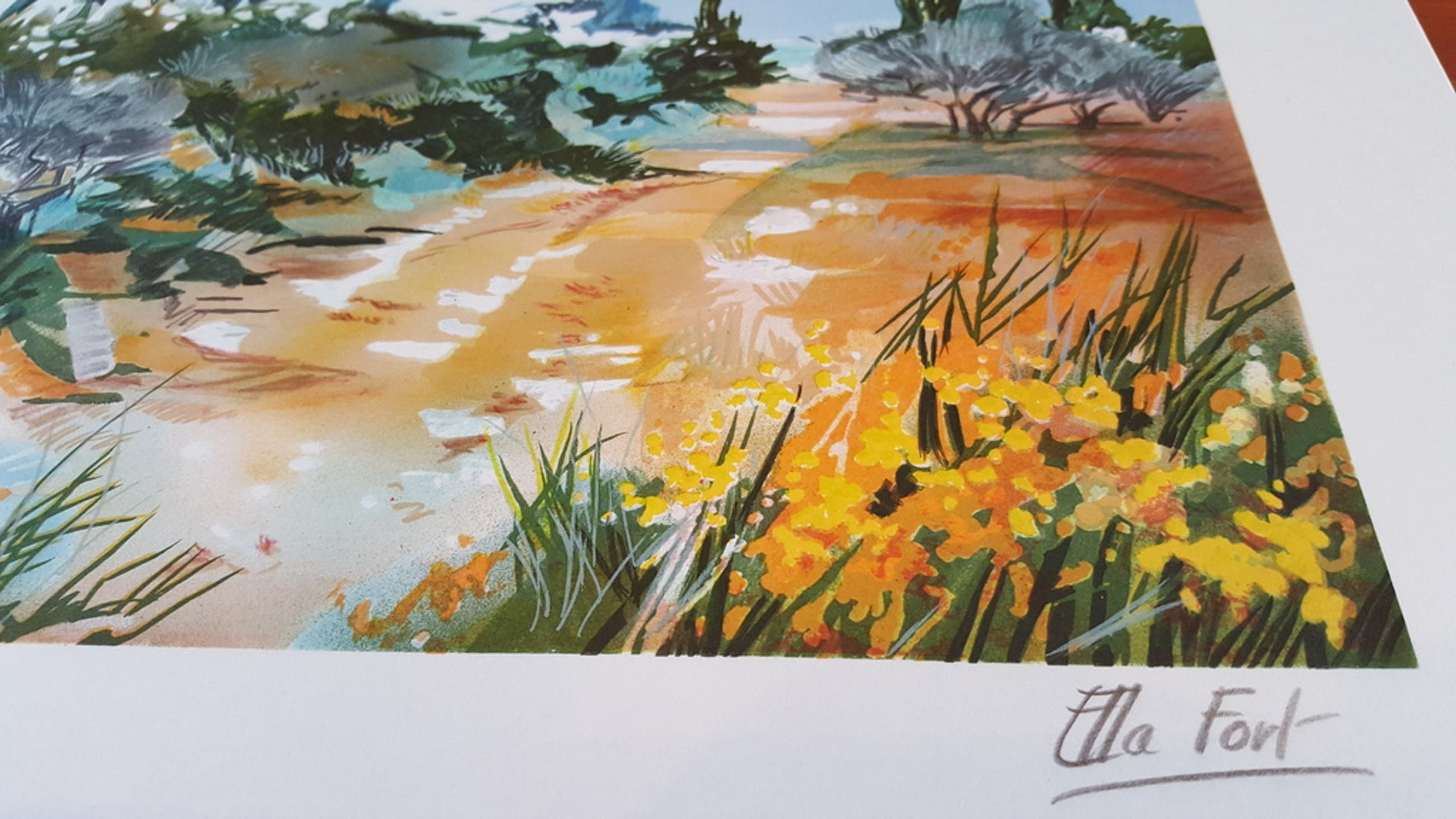 Ella Fort, Zuidelijk berglandschap, Schitterende Kleuren Lithografie kopen? Bied vanaf 1!