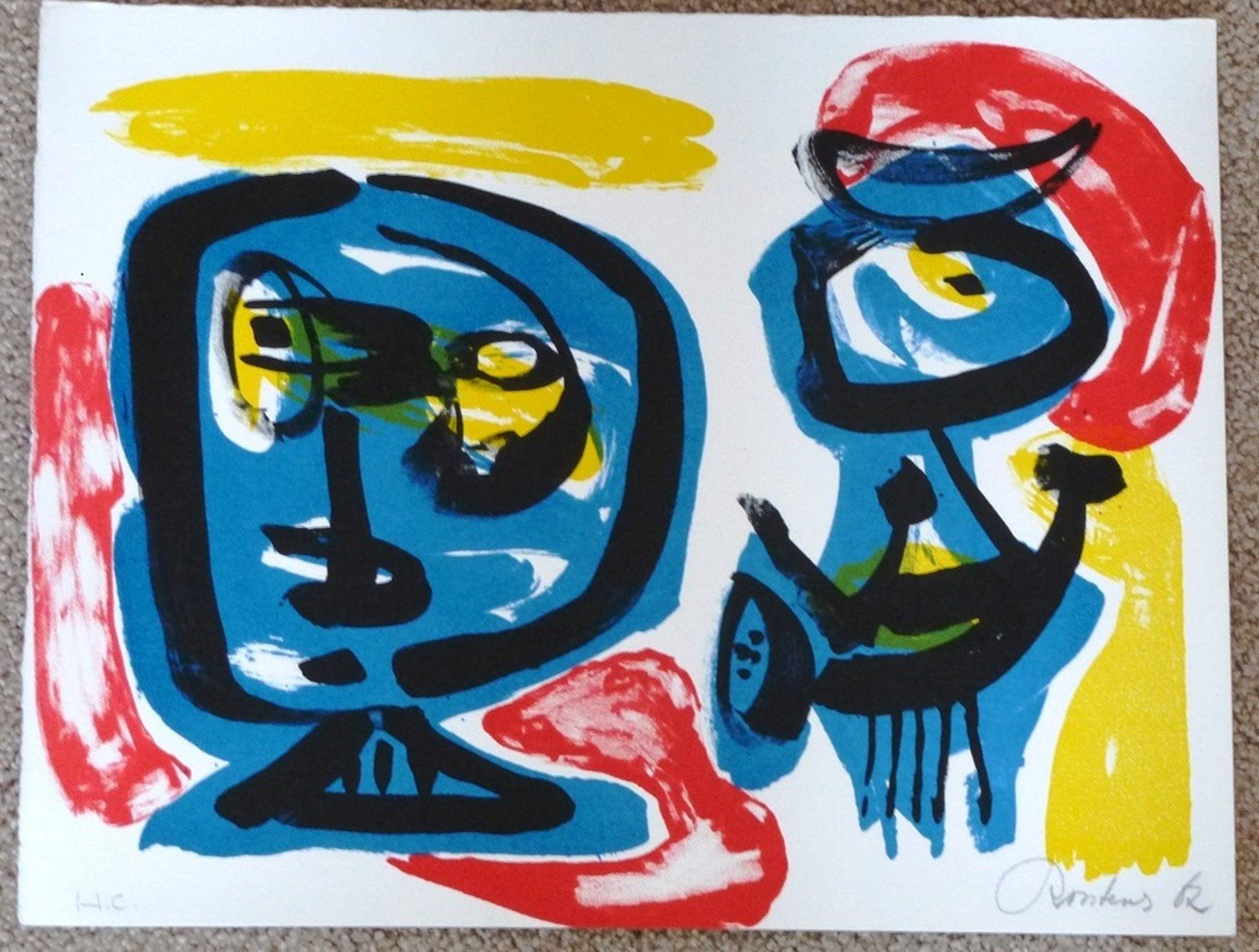 Anton Rooskens, litho, 1967, handgesign. en genumm. kopen? Bied vanaf 350!