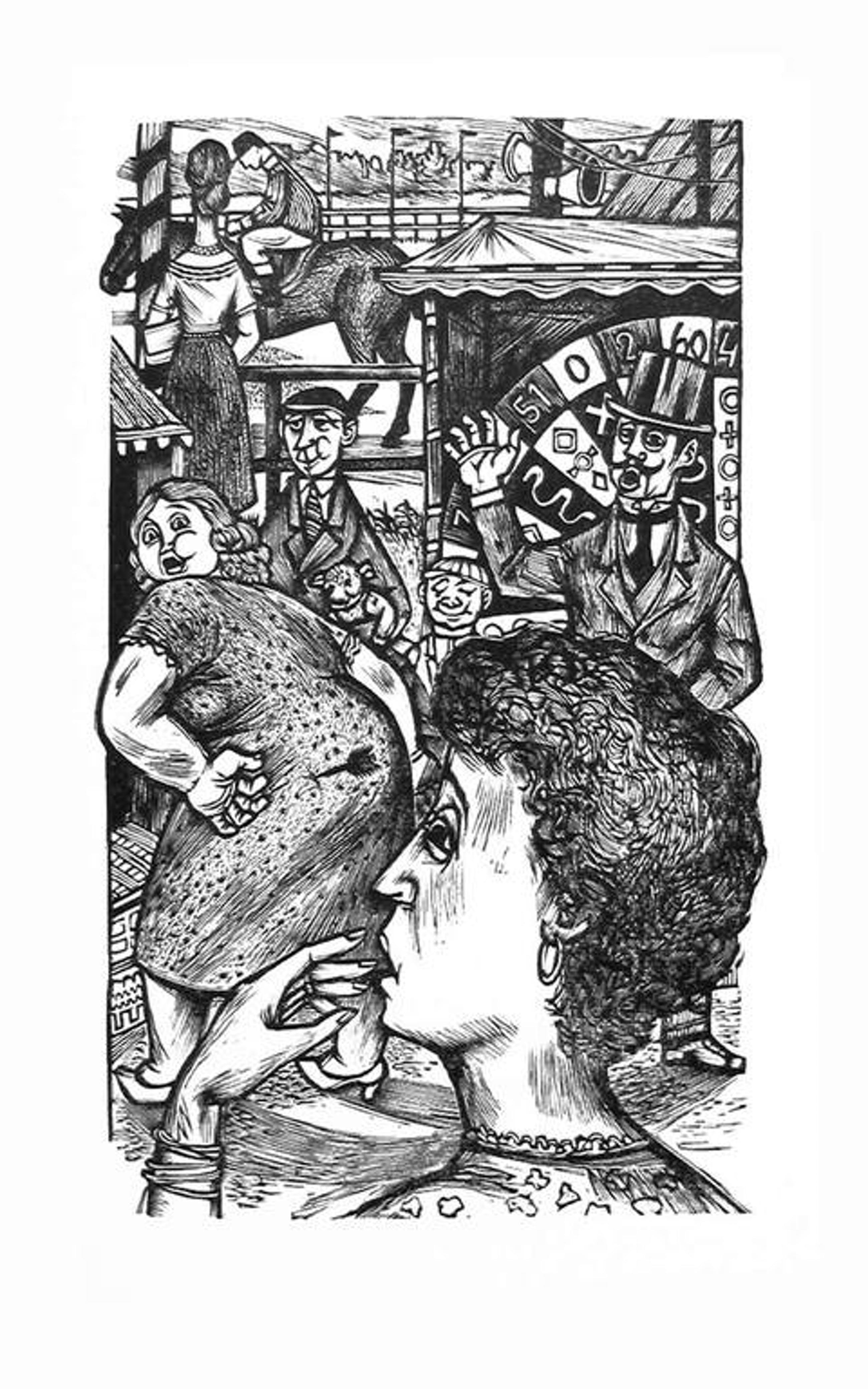 LOU STRIK - Houtgravure uit BANKSPIEGEL, 1961 kopen? Bied vanaf 14!