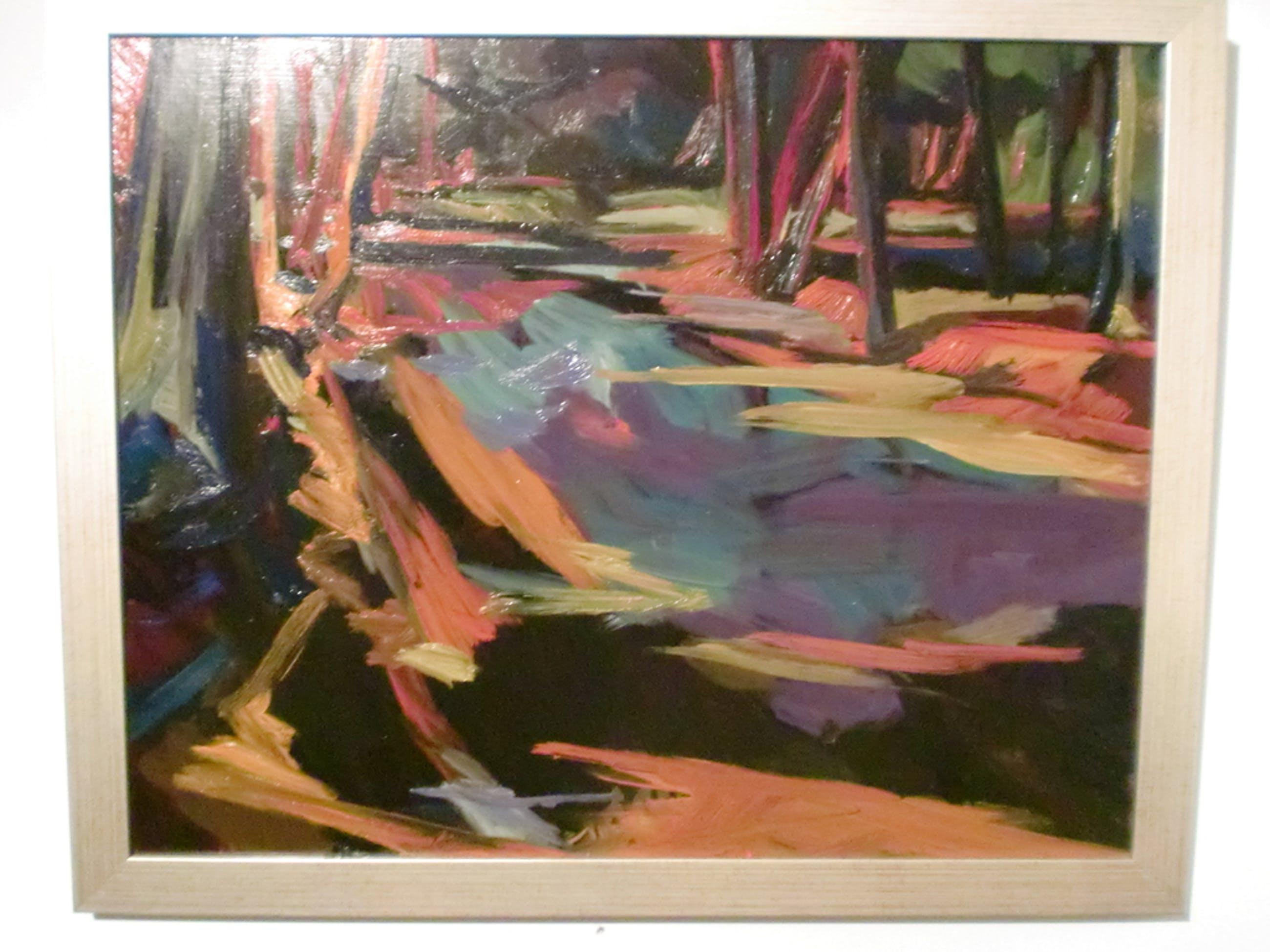 Frank Dekkers: olieverfschilderij, Bosgezicht kopen? Bied vanaf 285!