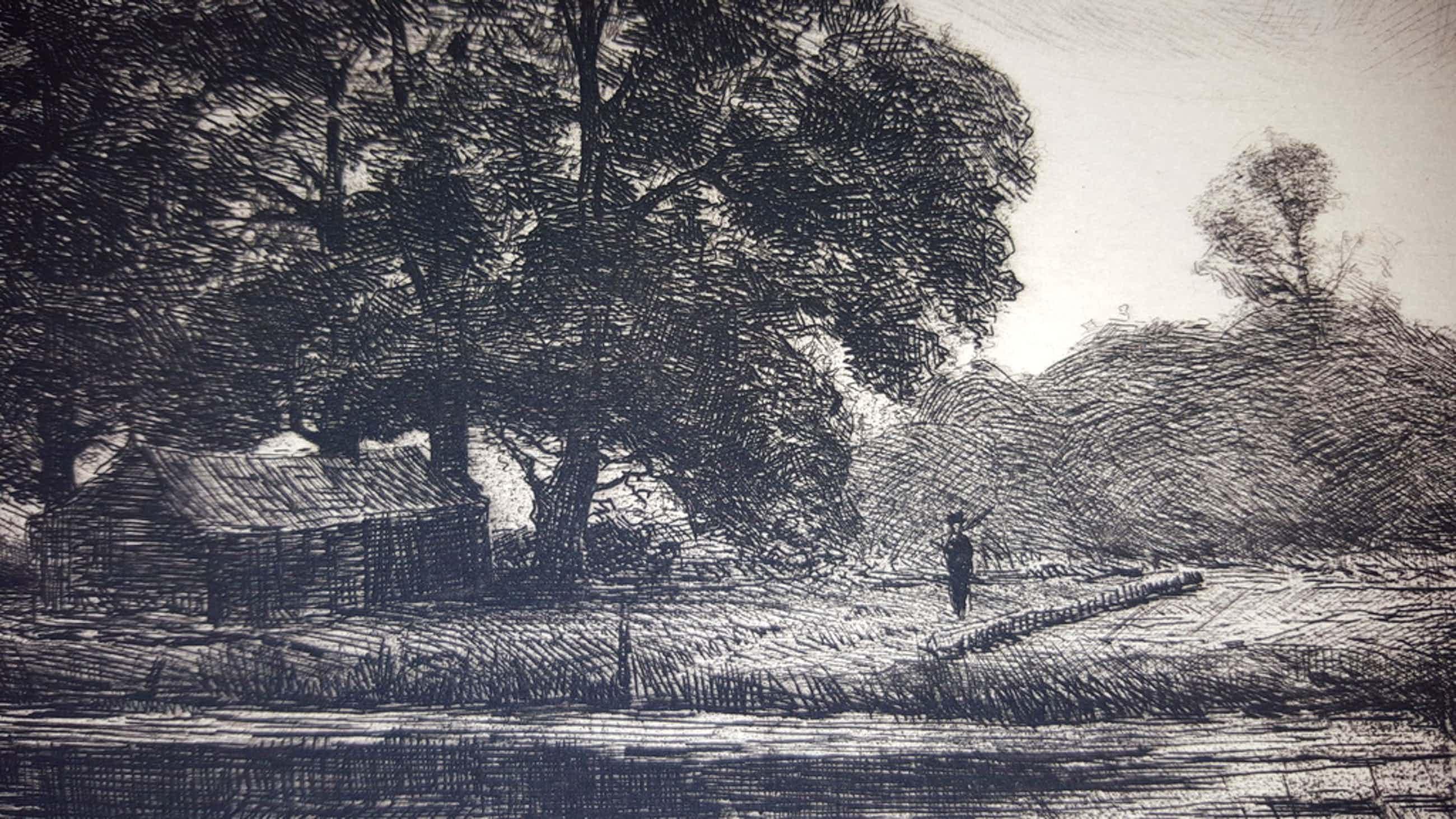 J.H. Wijsmuller (1855-1925) - ets, landschap bij Zutphen, gesigneerd kopen? Bied vanaf 49!