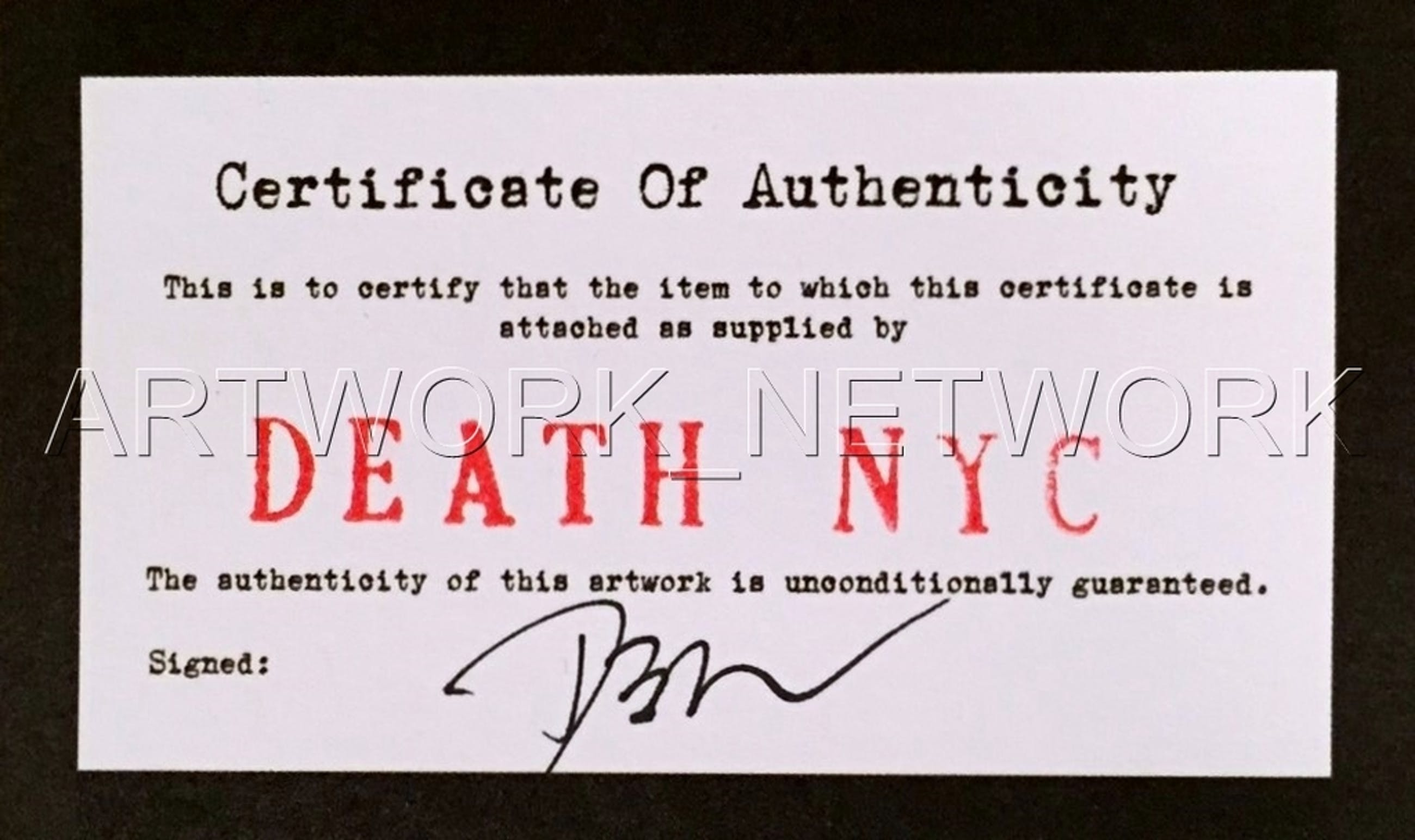 """DEATH NYC """"Color Spray"""" - n° A/P - Signed with COA (Edition Artist Proof) kopen? Bied vanaf 1!"""