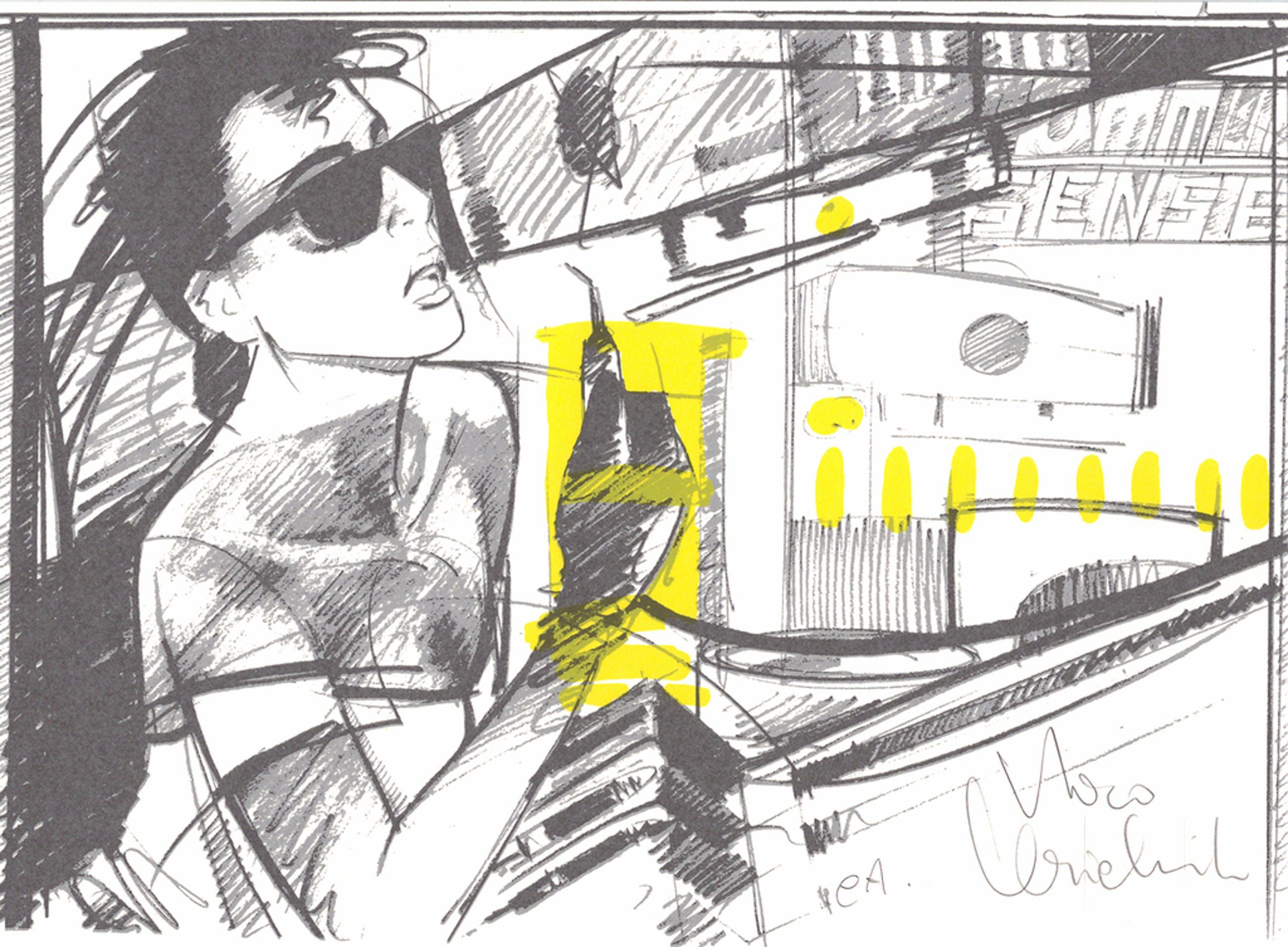 Nico Vrielink - Vrouw met zonnebril - gesigneerde zeefdruk - 1987 kopen? Bied vanaf 20!