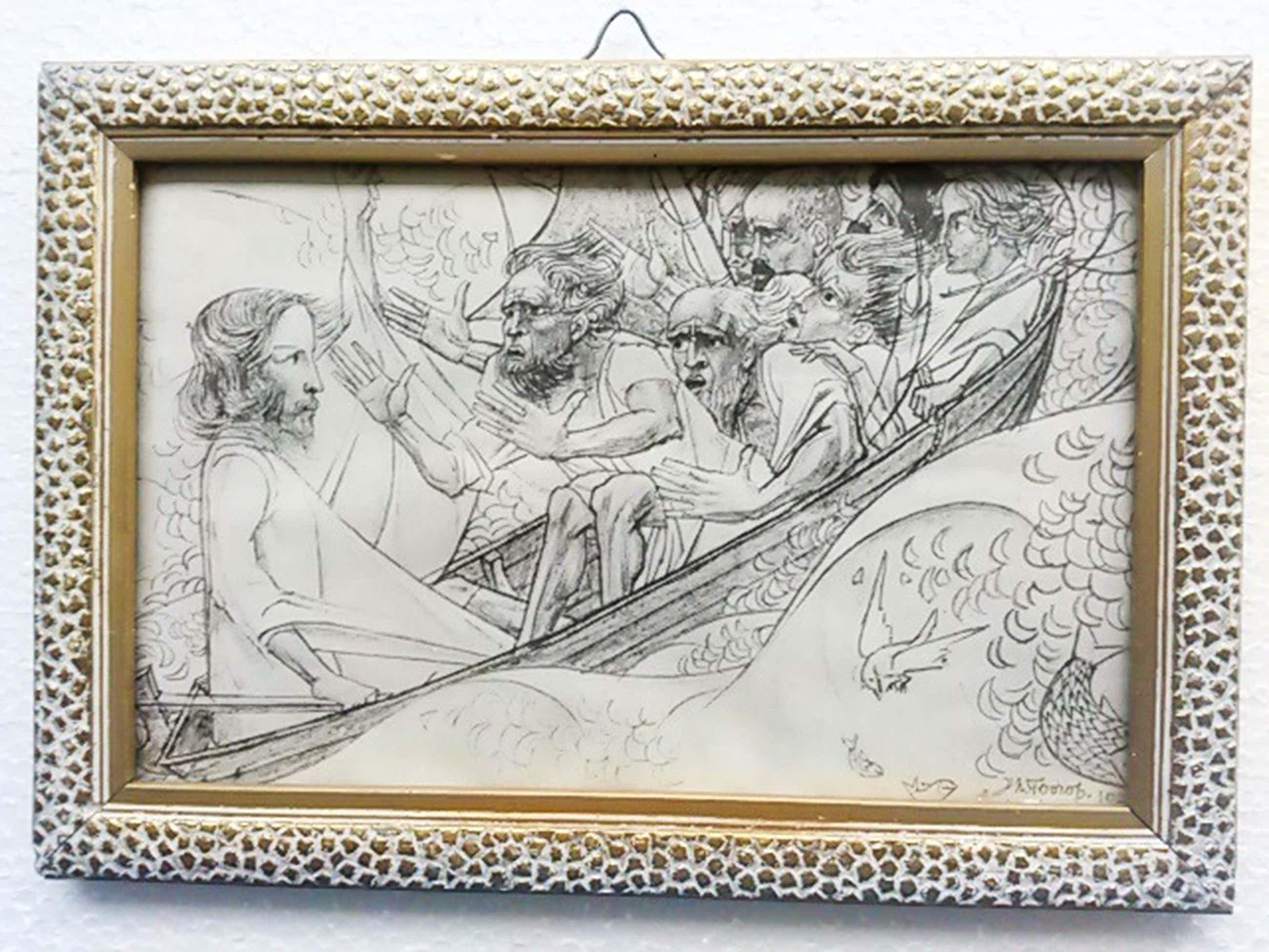 Jan Toorop, Christus en de Discipelen in den Storm, litho, 1927 kopen? Bied vanaf 60!