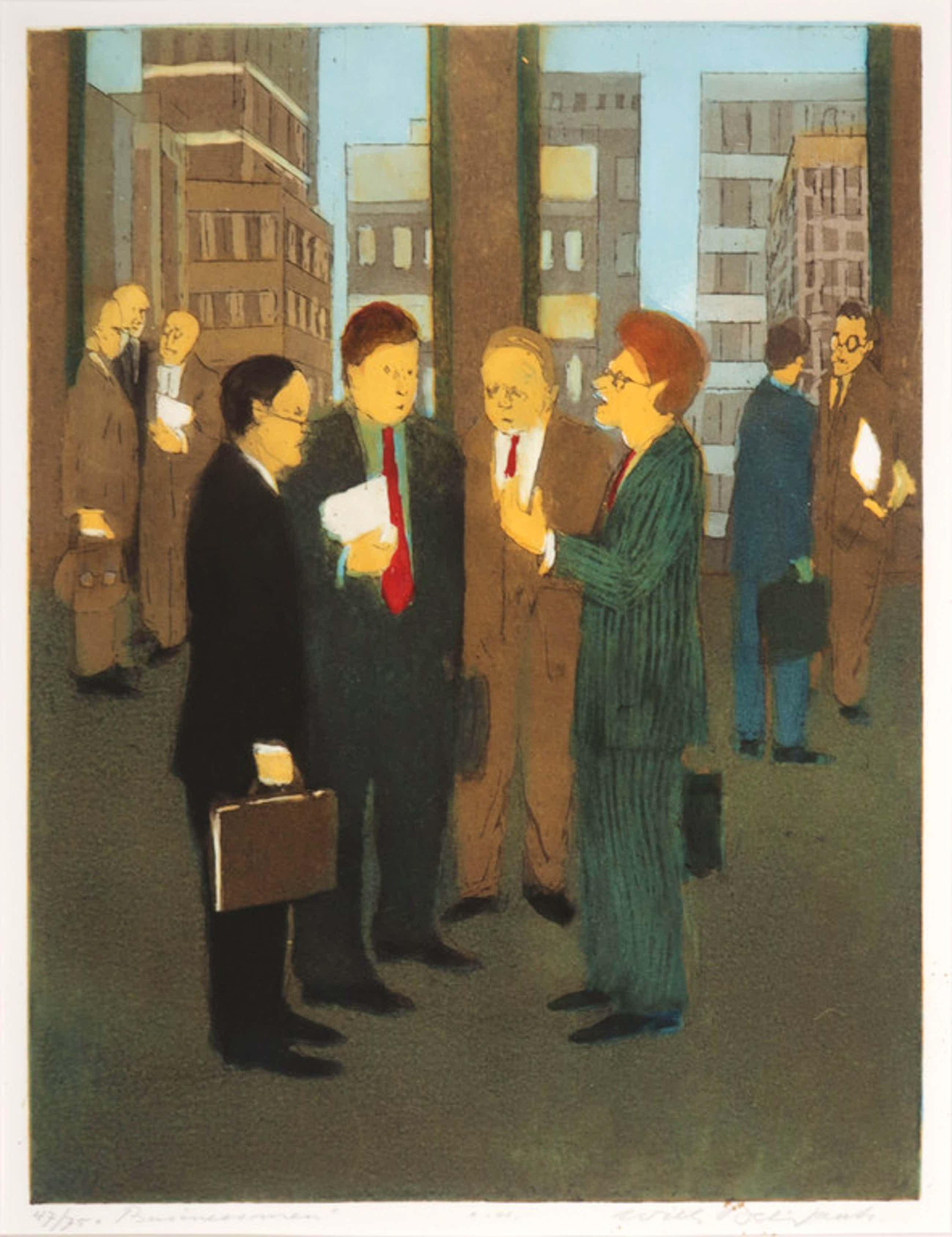 Willy Belinfante: Ets en Aquatint, Businessmen kopen? Bied vanaf 40!