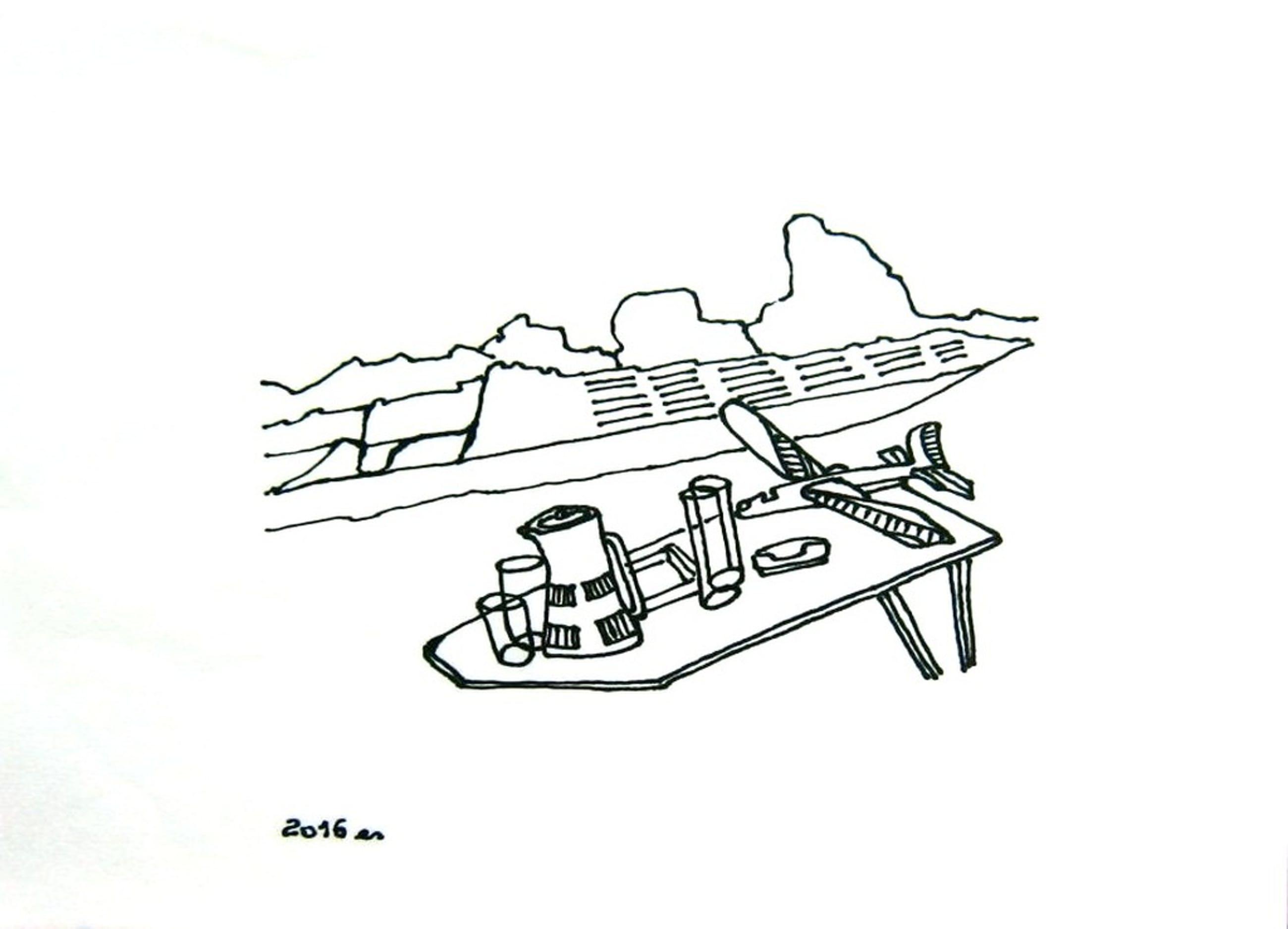 Maria Es pentekening op rijstpapier. 4.1 Picknick 2016 kopen? Bied vanaf 25!