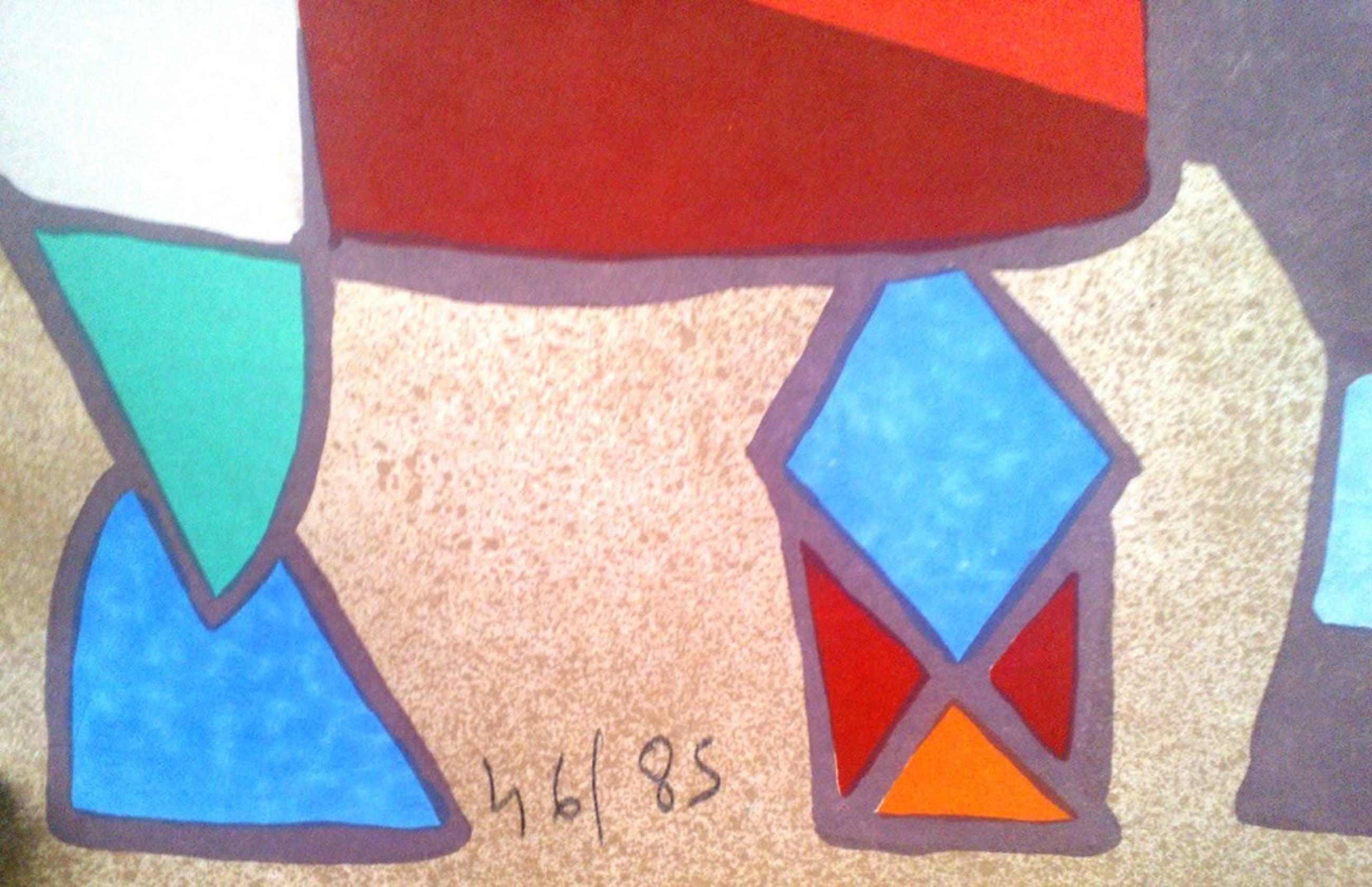 Mayeu Passa 'Abidos'- Originele kleurenlitho-Hand Gesigneerd kopen? Bied vanaf 75!