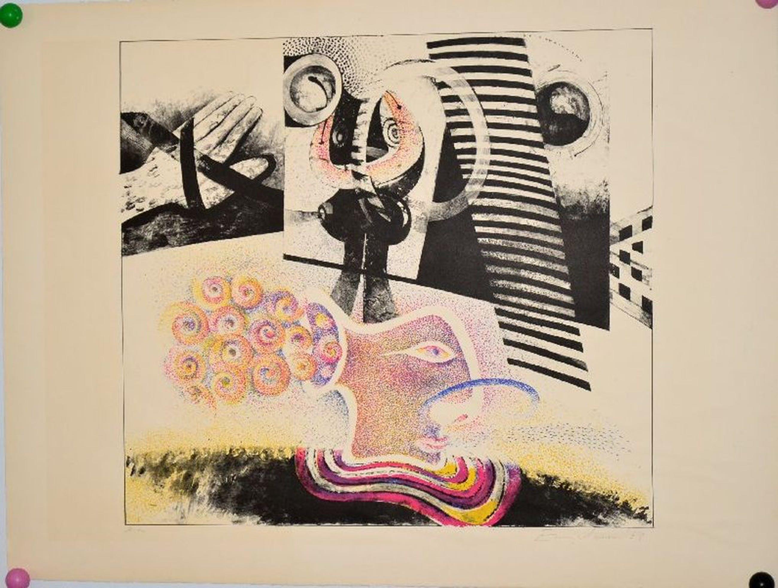 Martin Engelman: Kleurenlitho 1968, Prent 190 kopen? Bied vanaf 1!