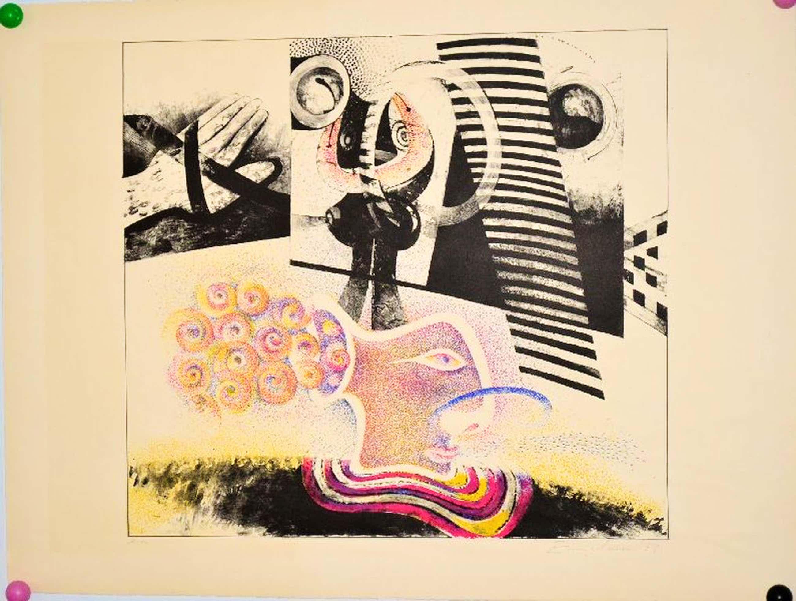 Martin Engelman: Kleurenlitho 1968, Prent 190 kopen? Bied vanaf 36!