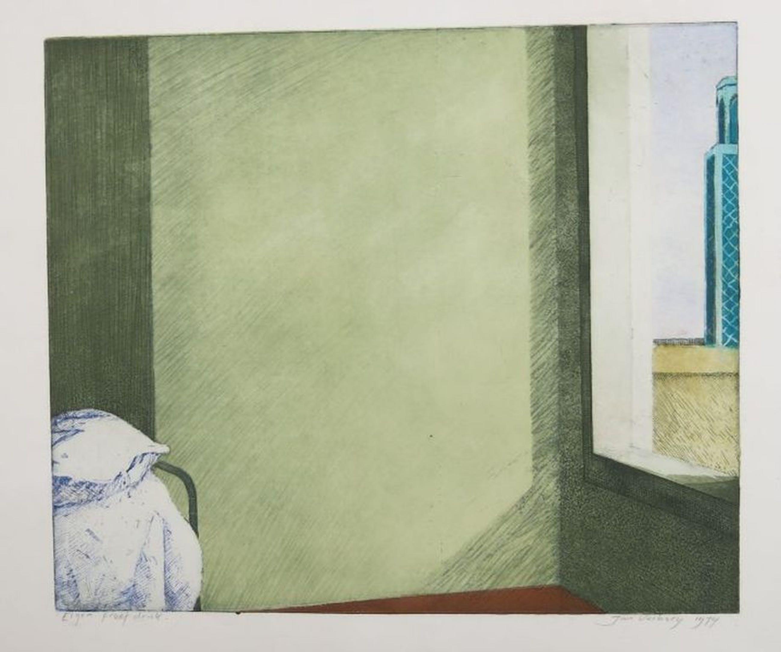 Jan Verburg: Ets/Aquatint, Ruimte bij het raam kopen? Bied vanaf 1!
