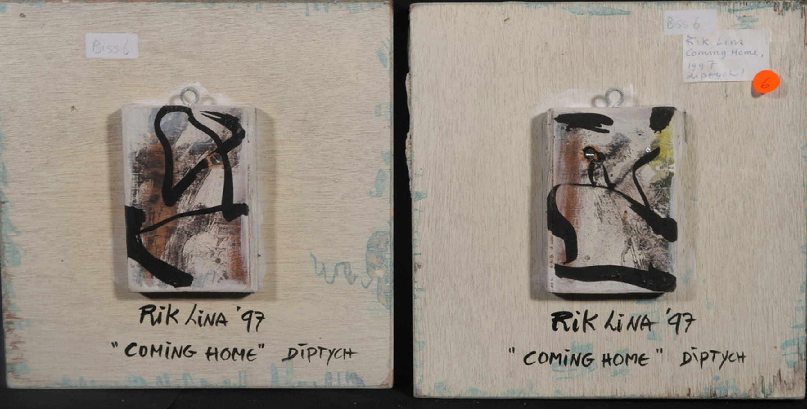 Rik Lina: Diptych 2x Olieverf op paneel, Coming Home kopen? Bied vanaf 100!
