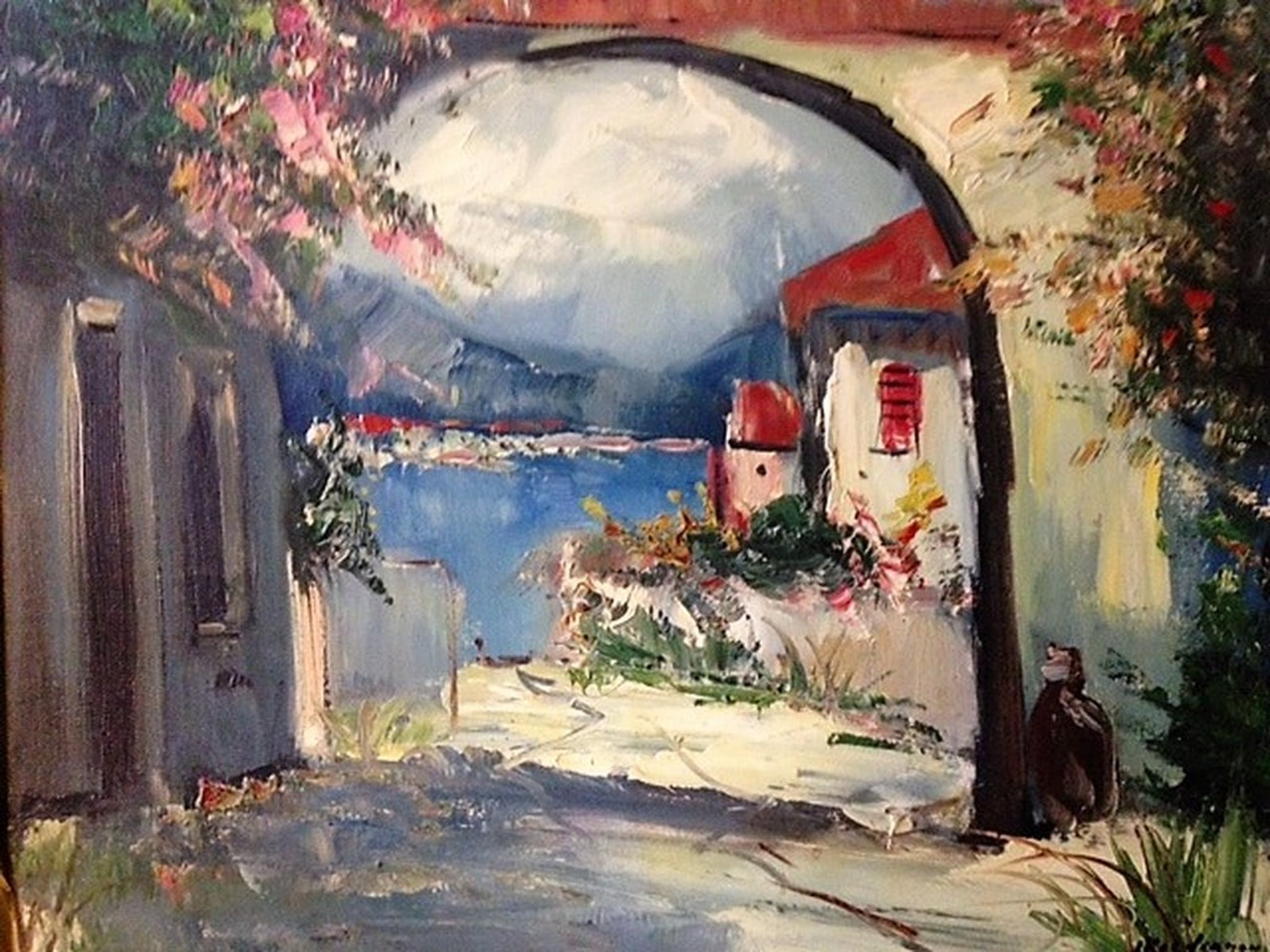 Jan Kelderman (1914-1990), olieverf op doek, Zuid-Frankrijk kopen? Bied vanaf 60!