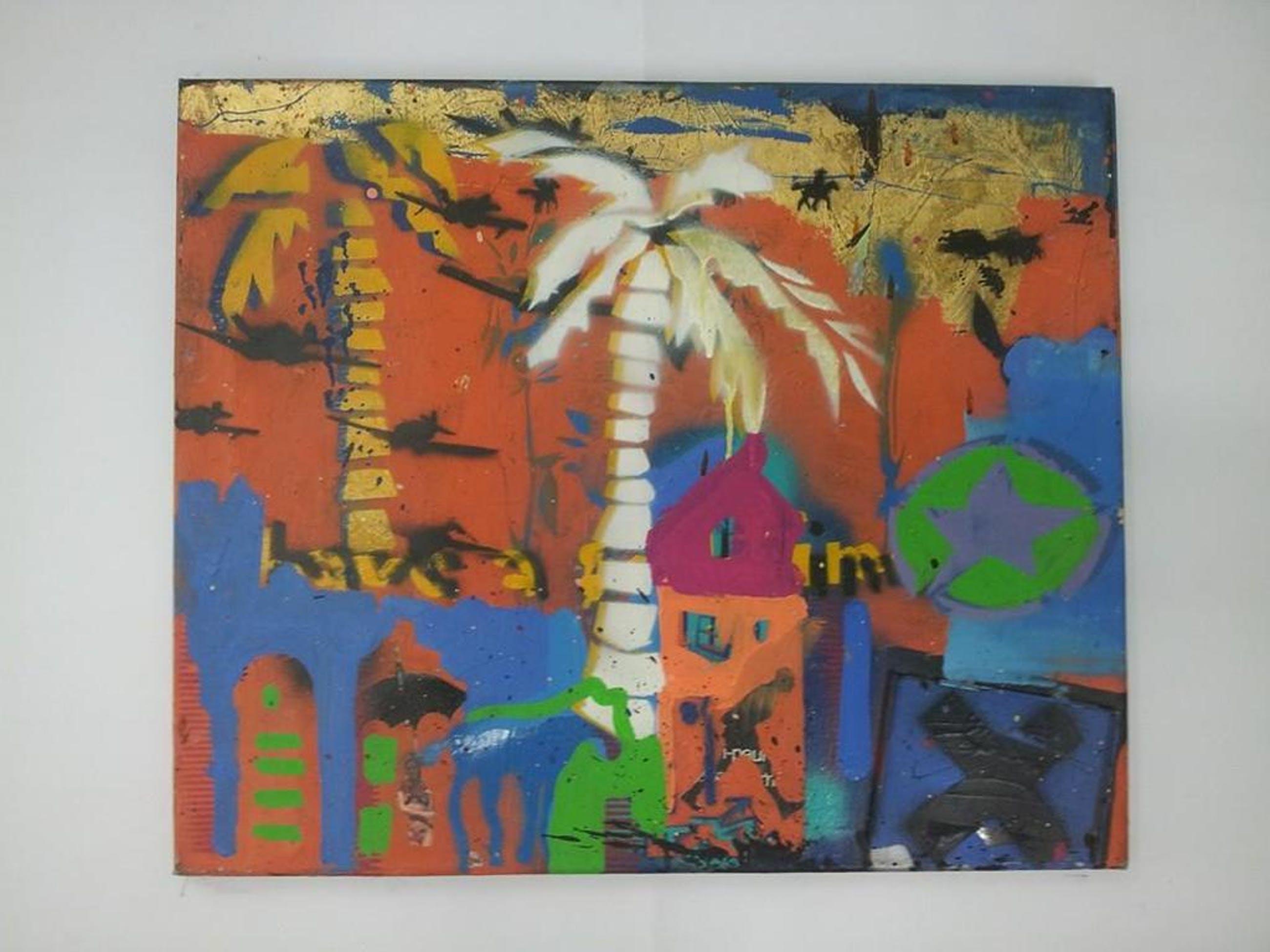 Espen Greger Hagen (Trondheim 1964-Amsterdam 2008) - My Planet '' Acryl op board - Gedateerd 1995 kopen? Bied vanaf 100!