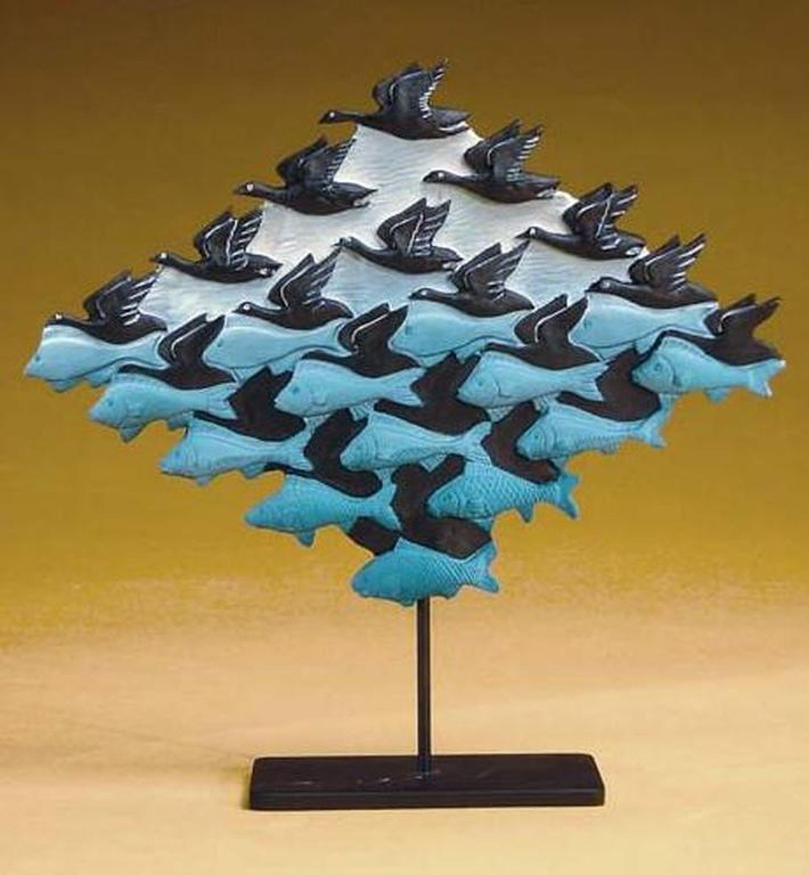MC ESCHER, 3D-sculpture: Lucht en water kopen? Bied vanaf 44!