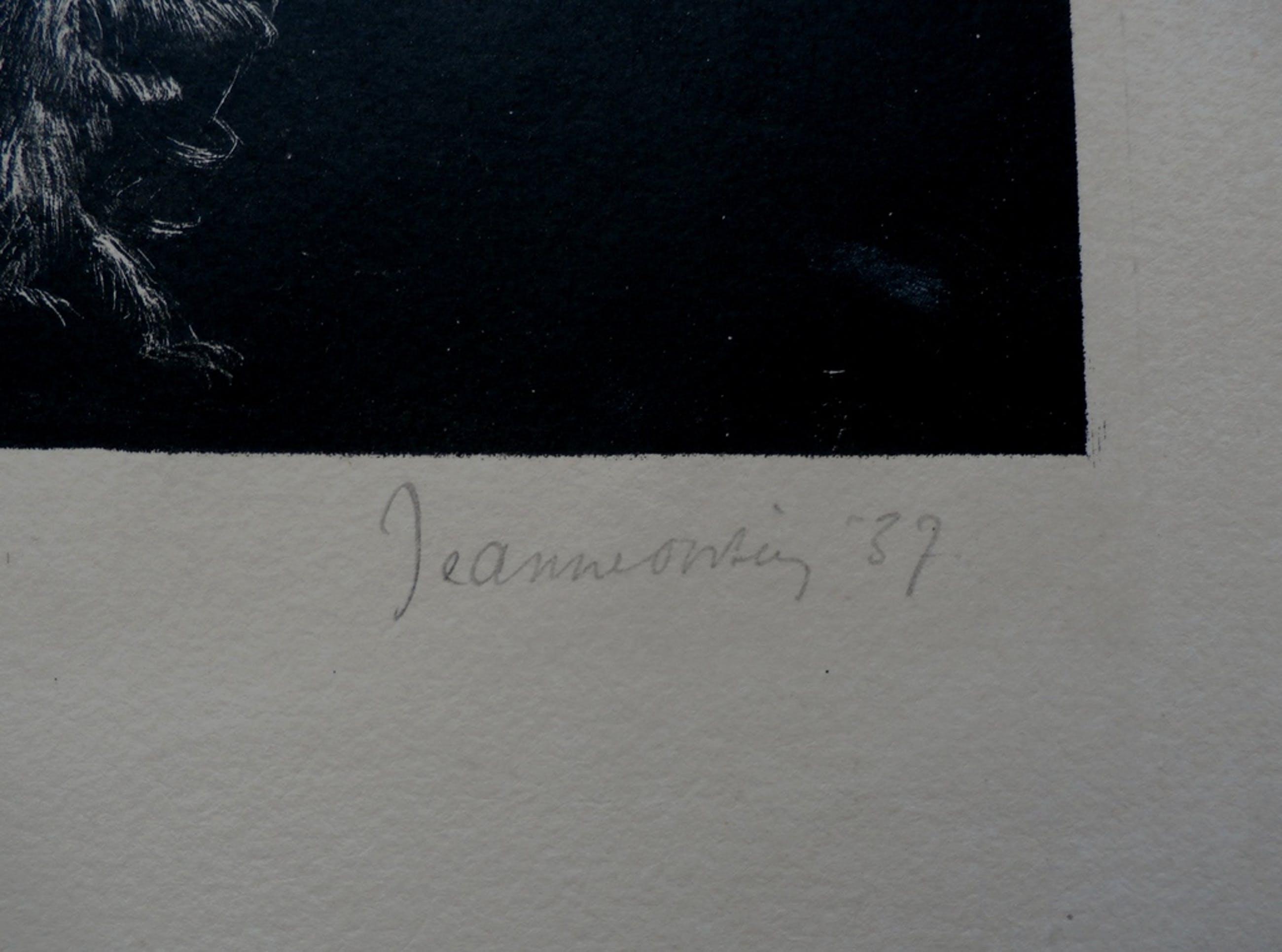 Jeanne Biruma Oosting, handgesigneerde litho, 1937e kopen? Bied vanaf 85!