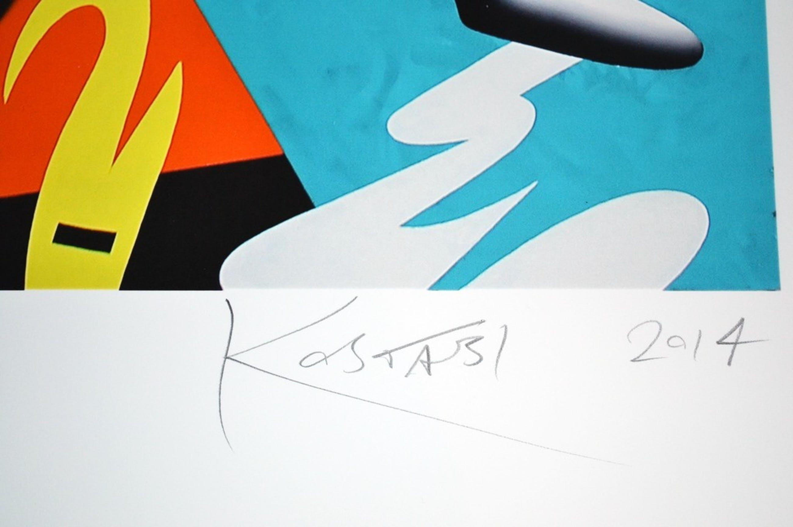 Mark Kostabi - groot giclee - gesigneerd - 50 ex. - 2014 kopen? Bied vanaf 1!