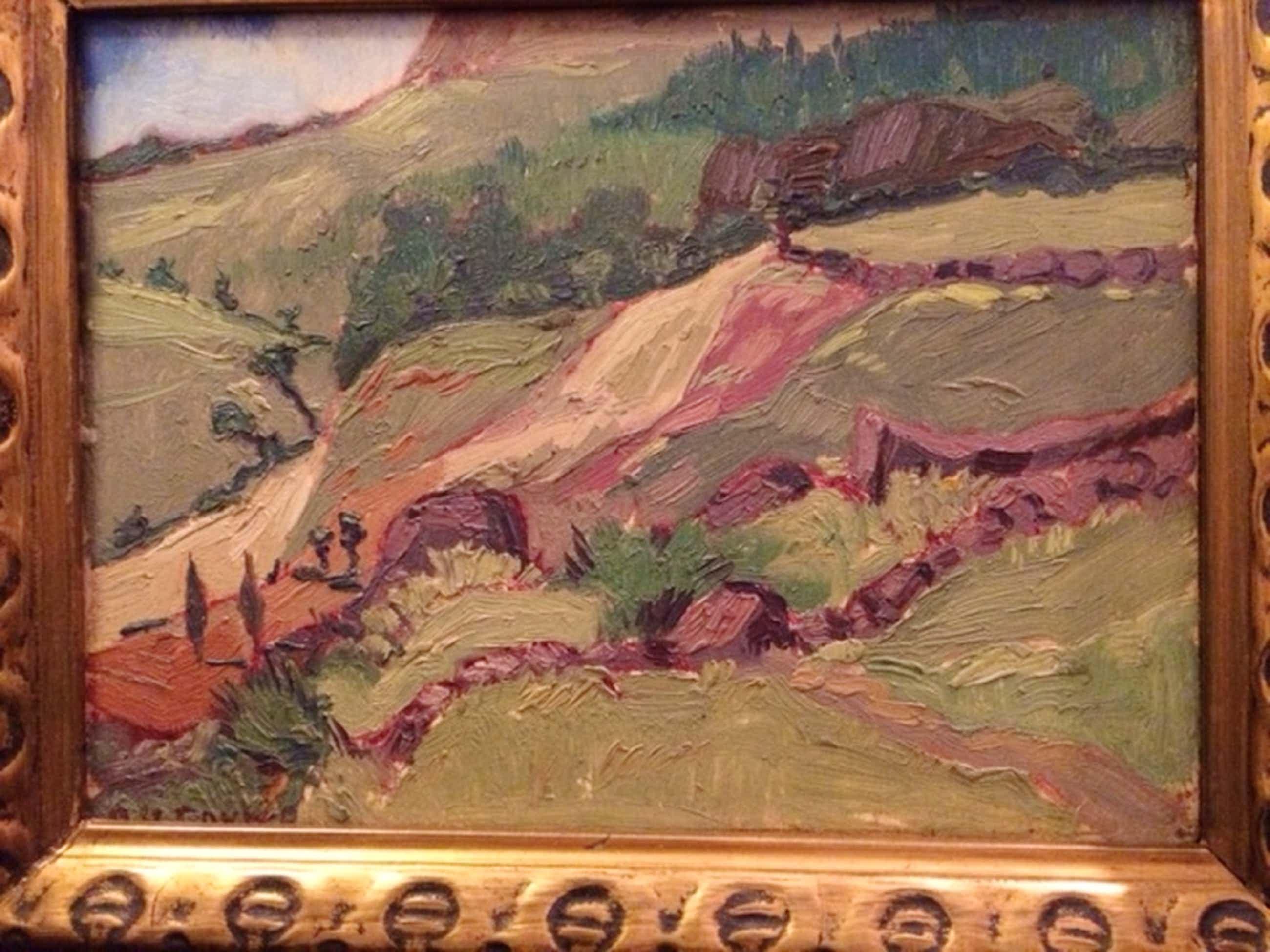 A.H. Gouwe, Mooi berggezicht, grootte zonder lijst 22 x 17 cm kopen? Bied vanaf 190!