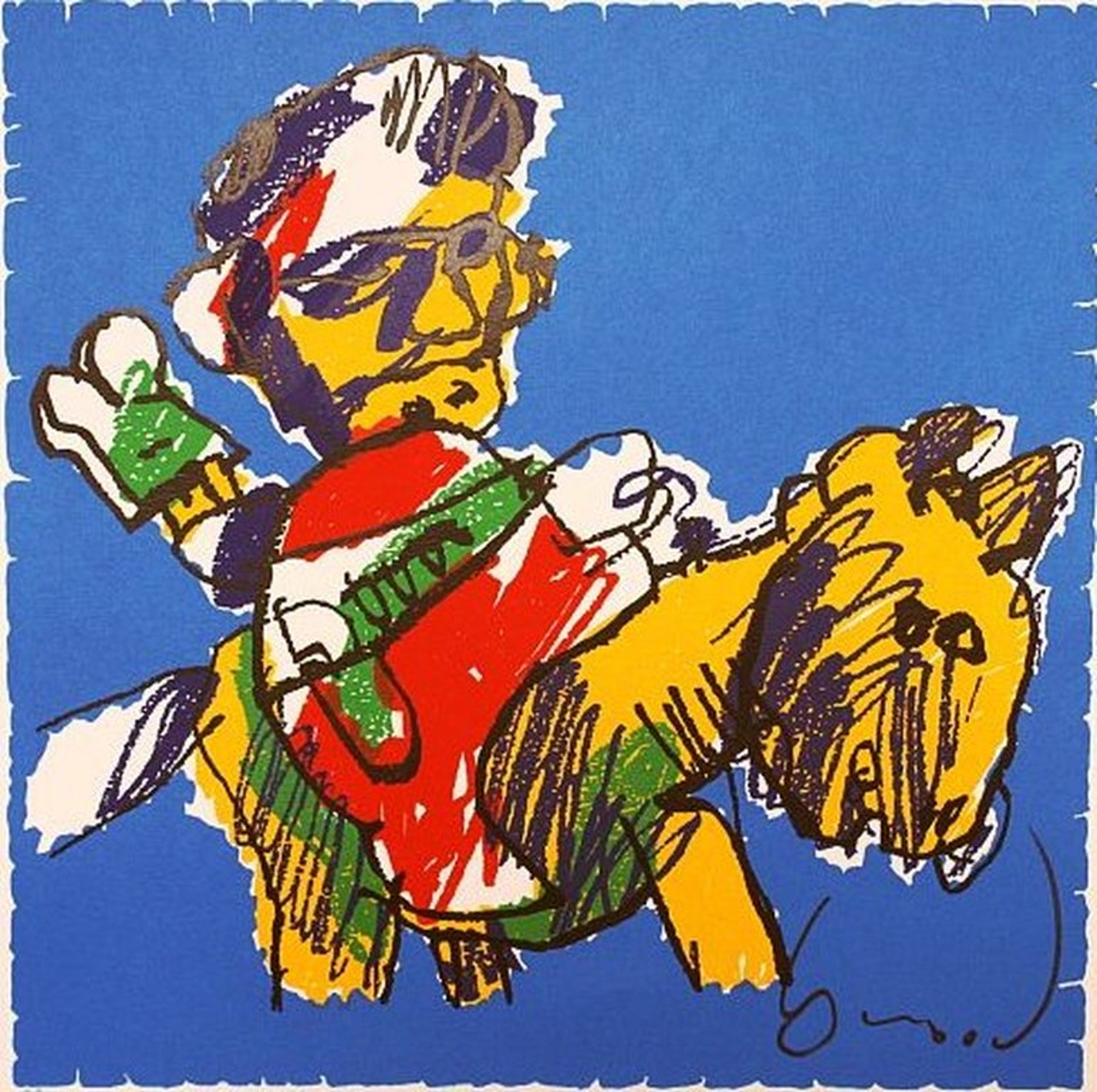 Herman Brood, Man op paard (proefdruk) 70 x 70 kopen? Bied vanaf 1!
