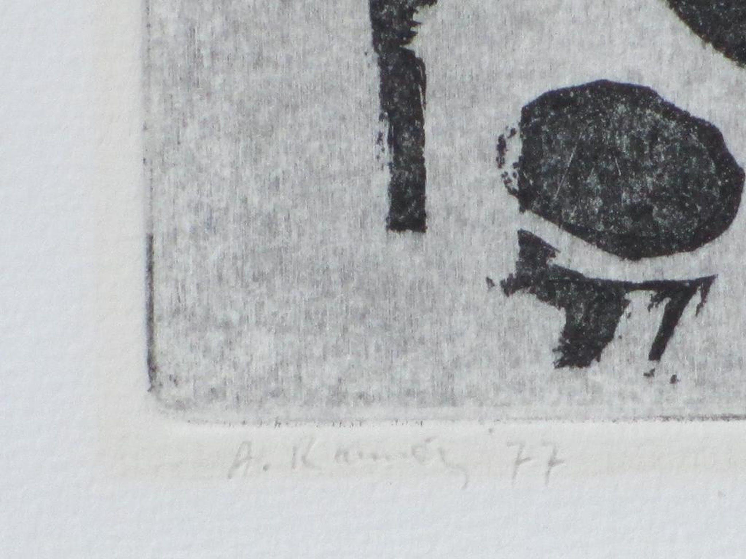 Adolfo Ramon, Jongen met gebalde vuisten, Ets 1977 kopen? Bied vanaf 25!
