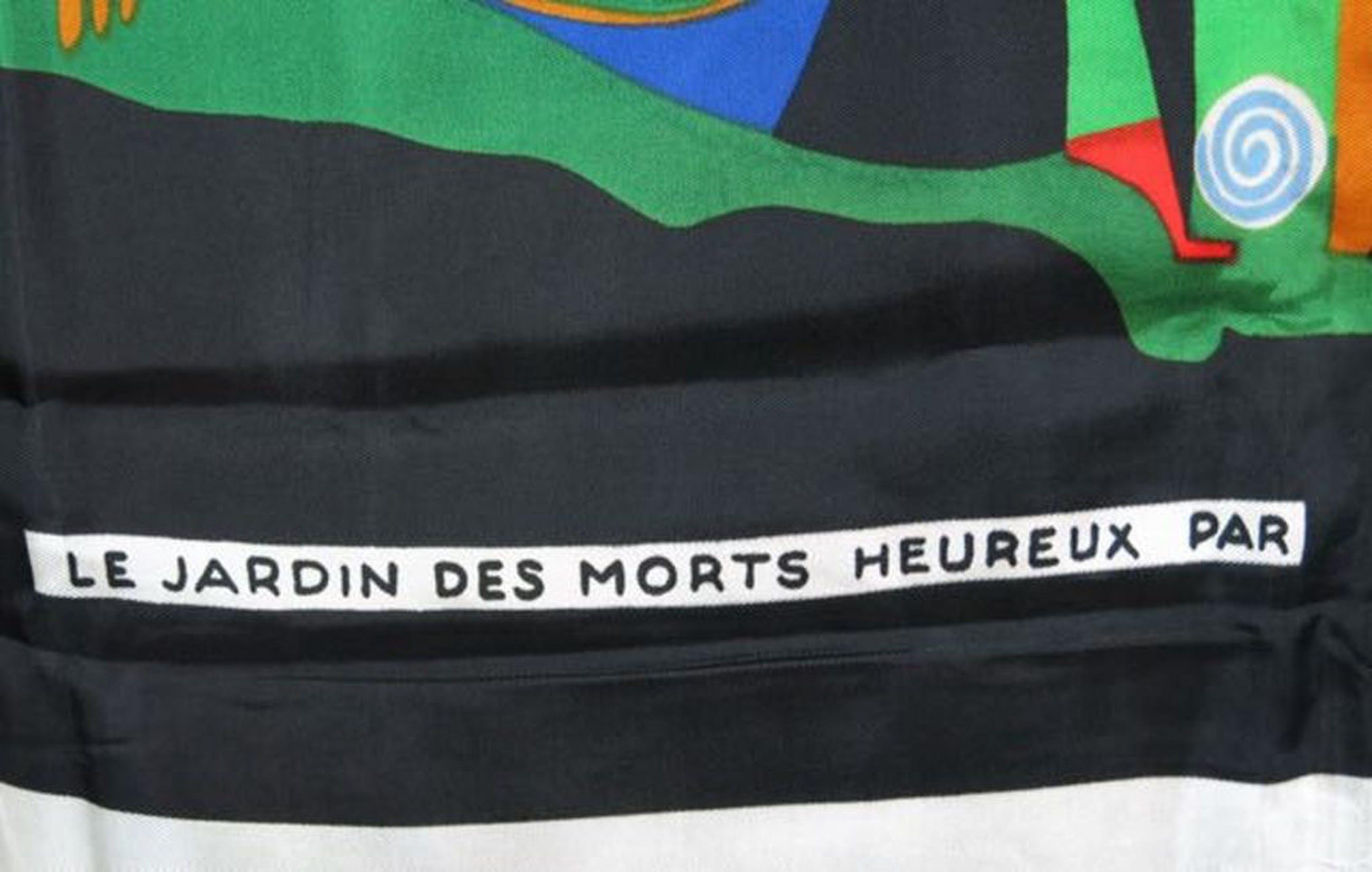 Friedensreich Hundertwasser: Zeefdruk op viscose, Le jardin des morts heureux kopen? Bied vanaf 70!